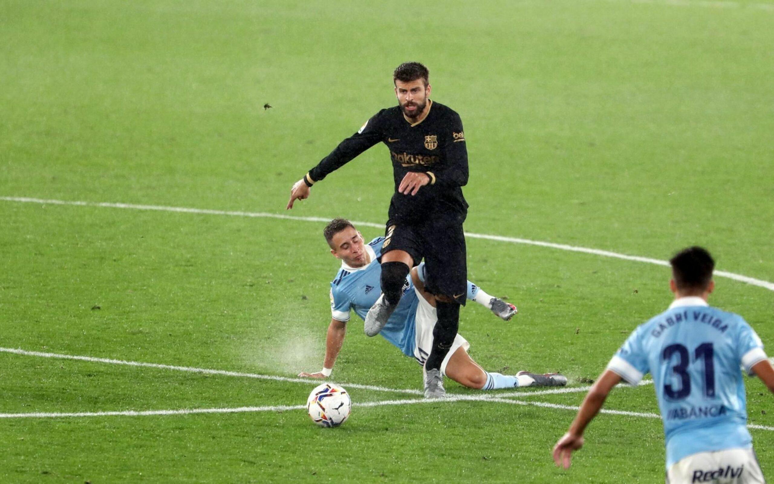 Piqué, durant el partit contra el Celta | FC Barcelona