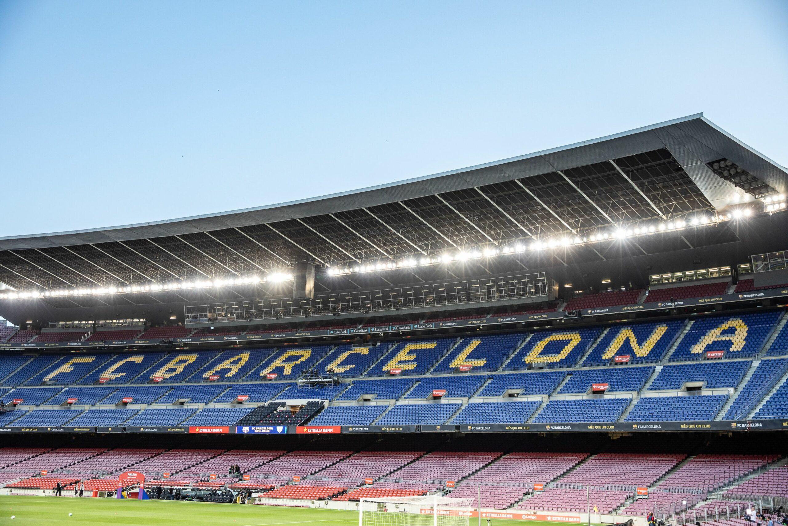 El Camp Nou, durant un partit a porta tancada | Europa Press