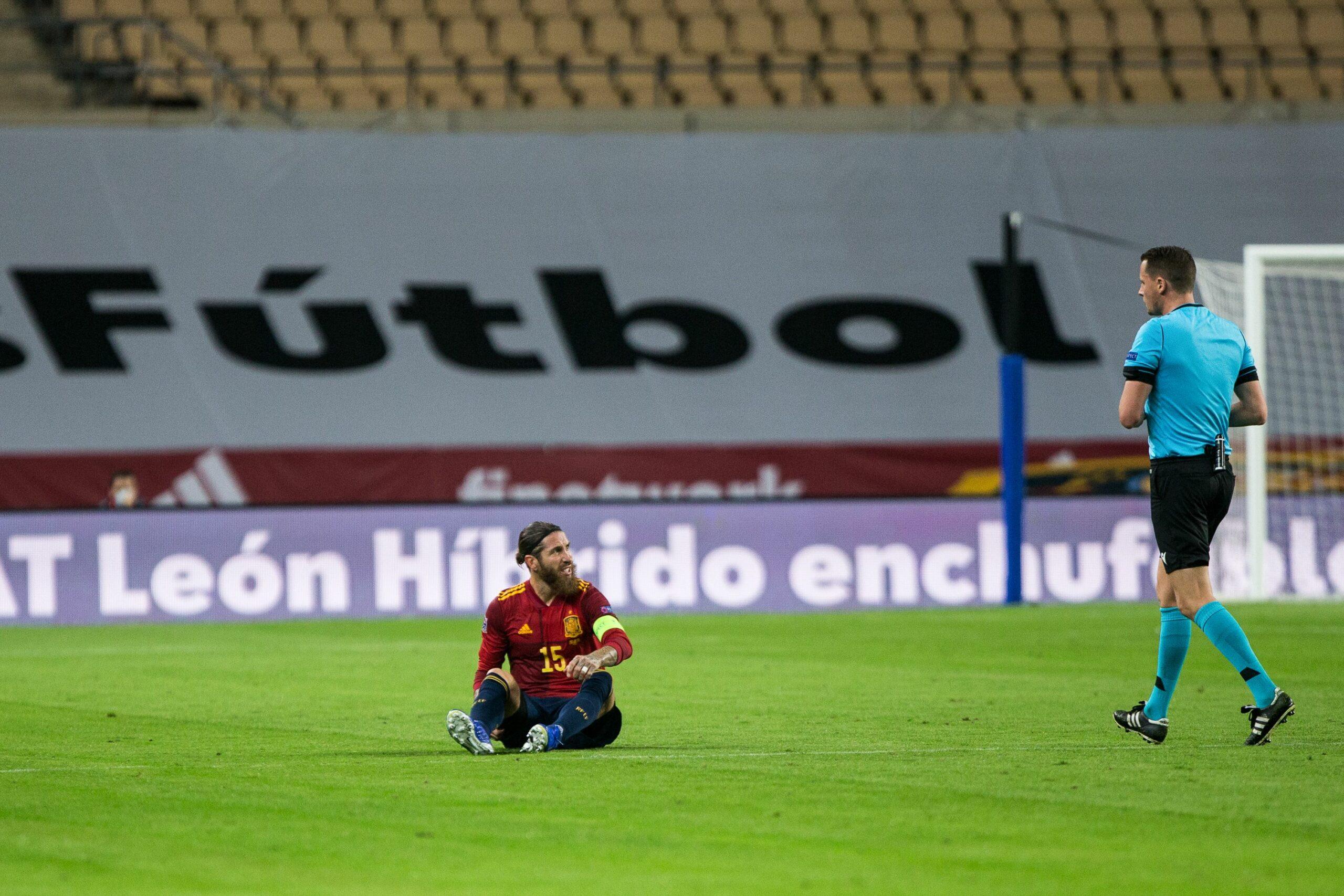 Sergio Ramos, jugador del Madrid, durant un partit de la selecció espanyola | Europa Press