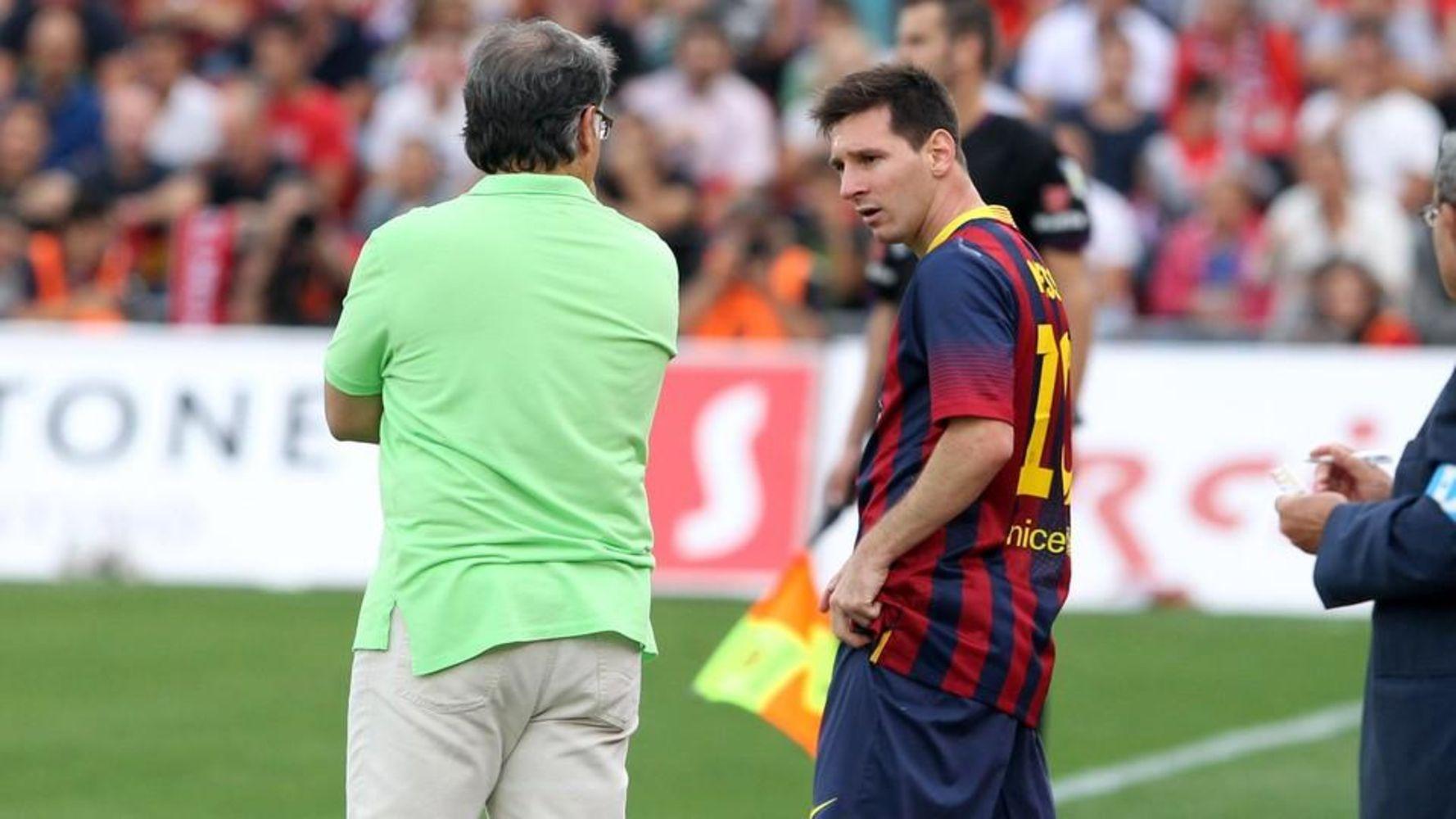 Leo Messi i el Tata Martino, durant l'època de l'entrenador argentí al Barça | FC Barcelona
