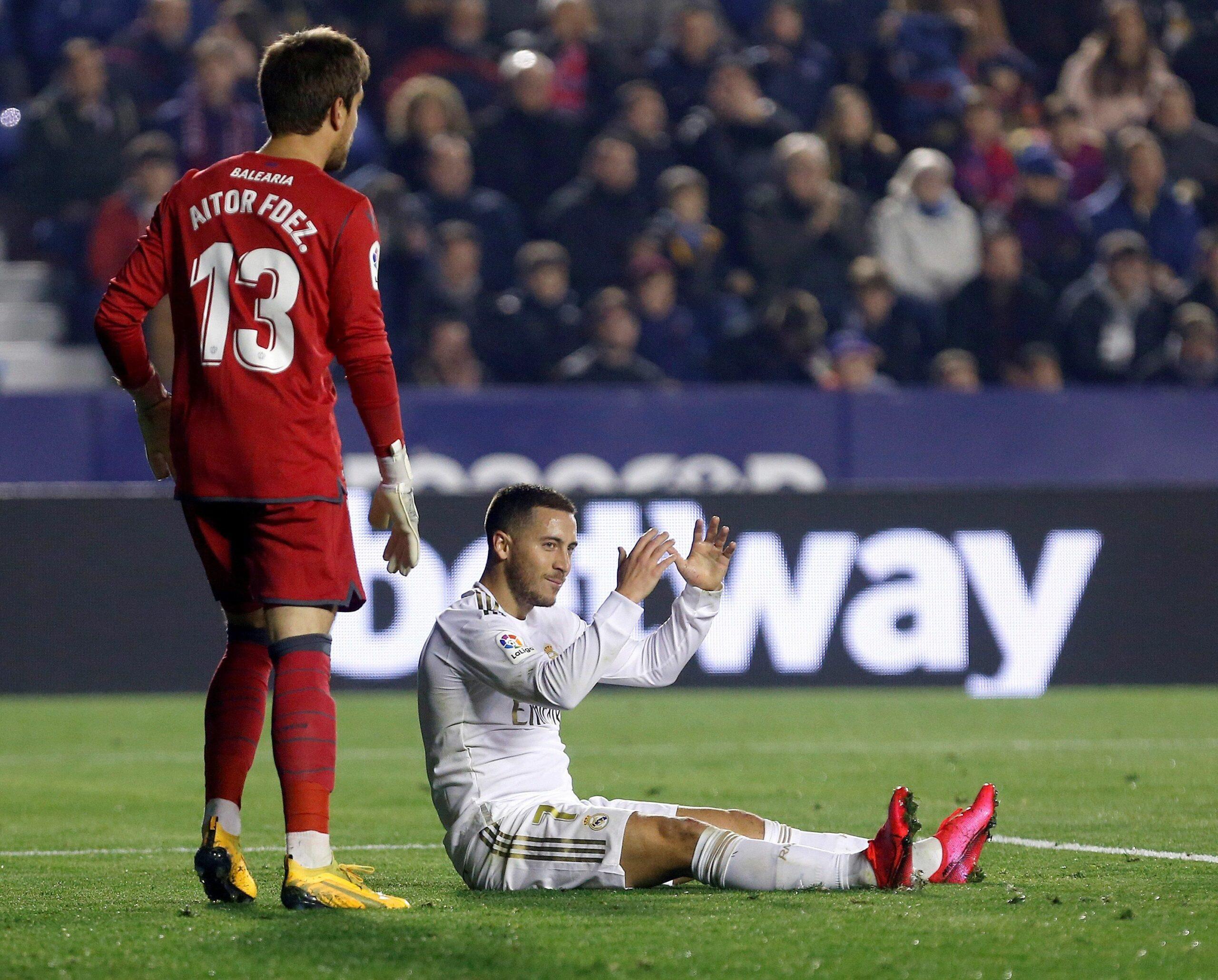 Hazard, en el partit davant el Llevant | EFE