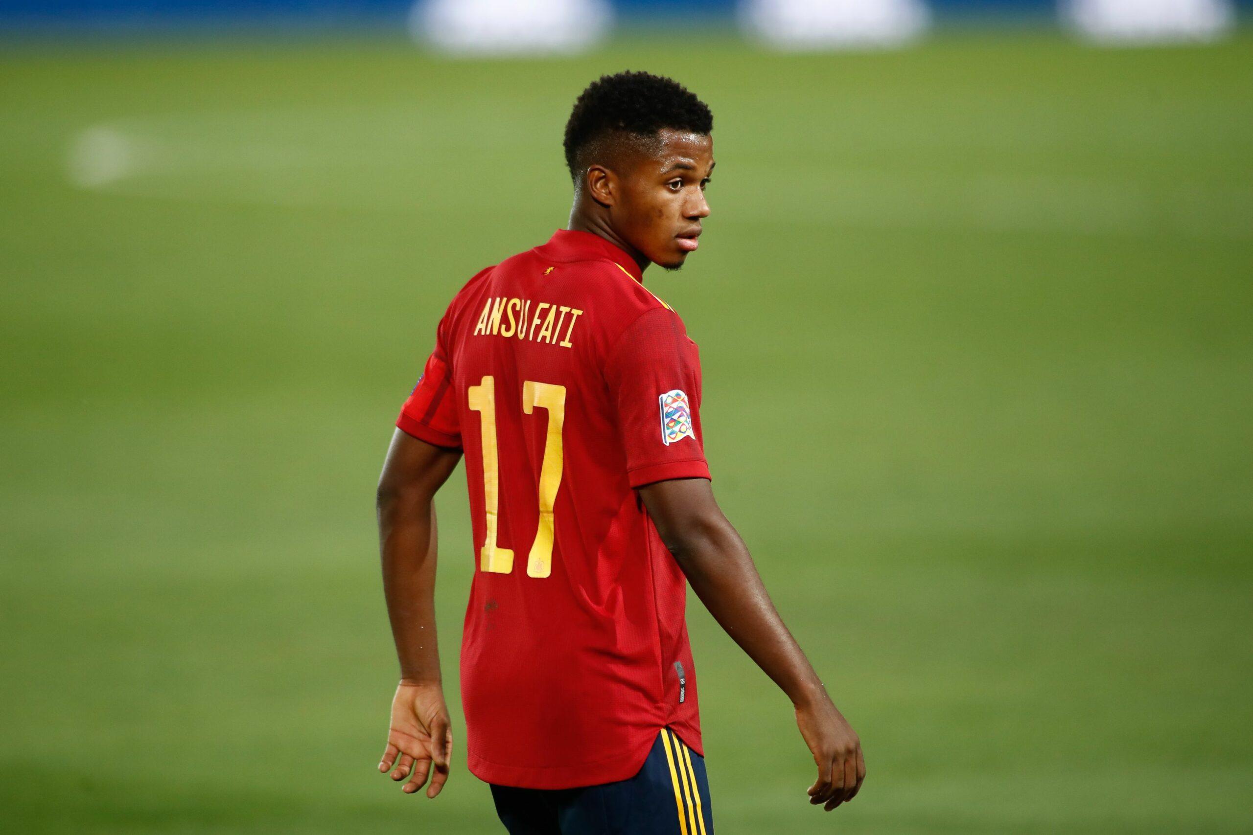 Ansu Fati, durant un partit amb la selecció espanyola | Europa Press