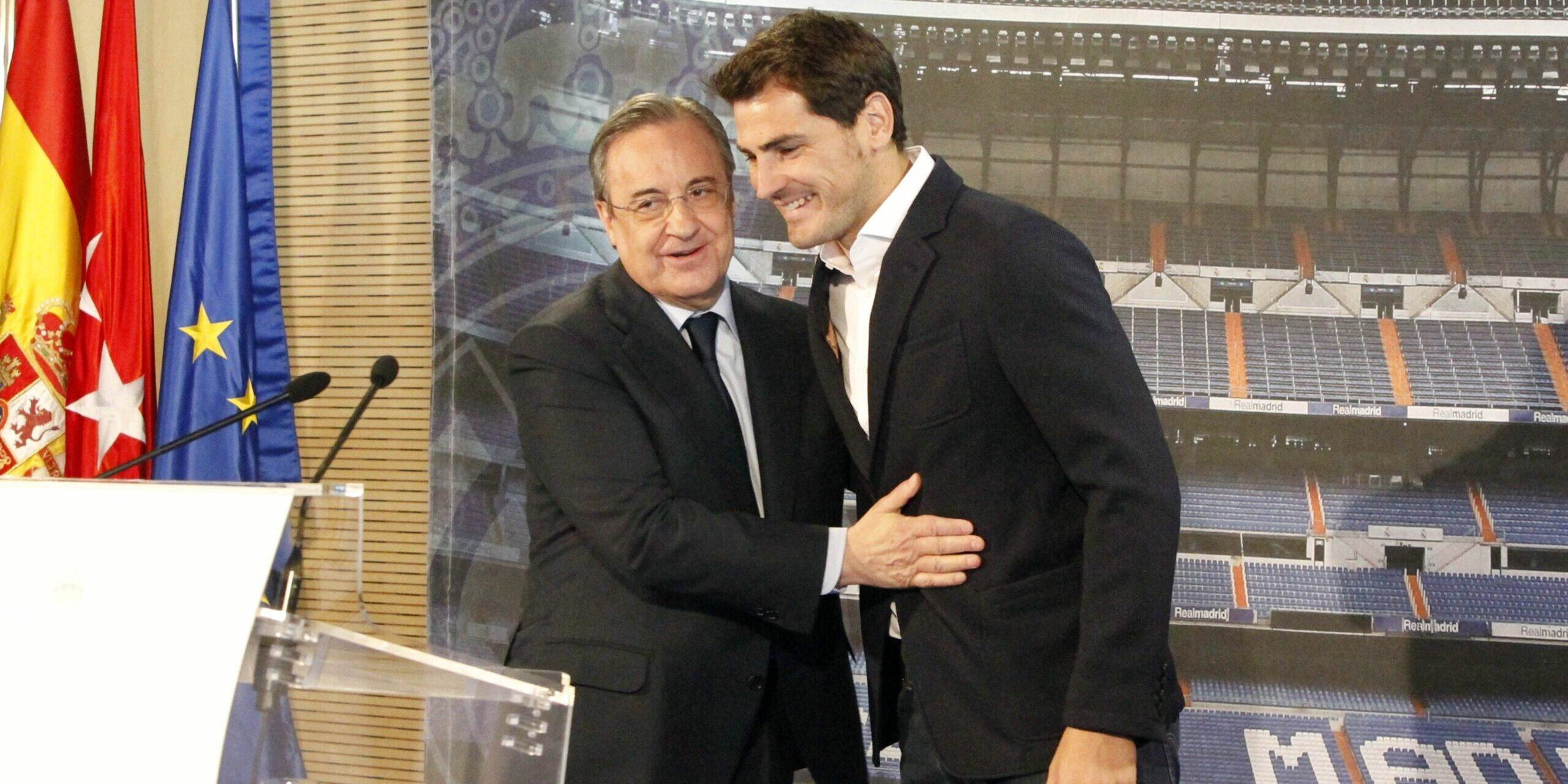 Iker Casillas, amb Florentino Pérez | Europa Press
