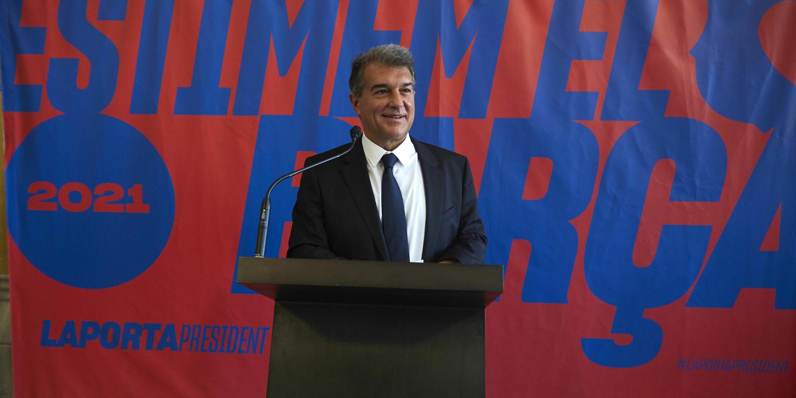 Joan Laporta, durant la presentació de la seva precandidatura a les eleccions del Barça |Estimem el Barça