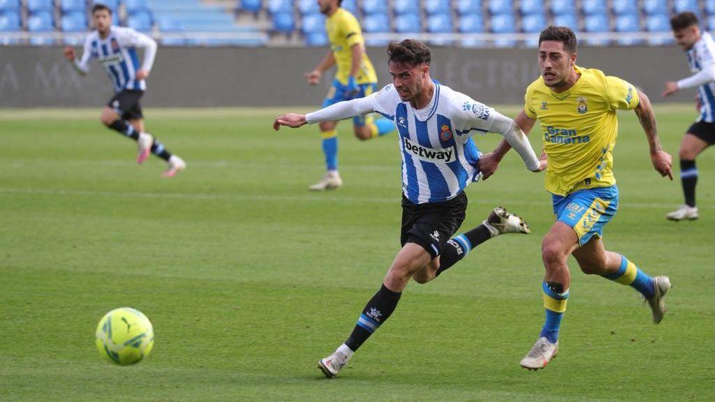 L'Espanyol cau per la mínima a Las Palmas en un partit marcat pel VAR