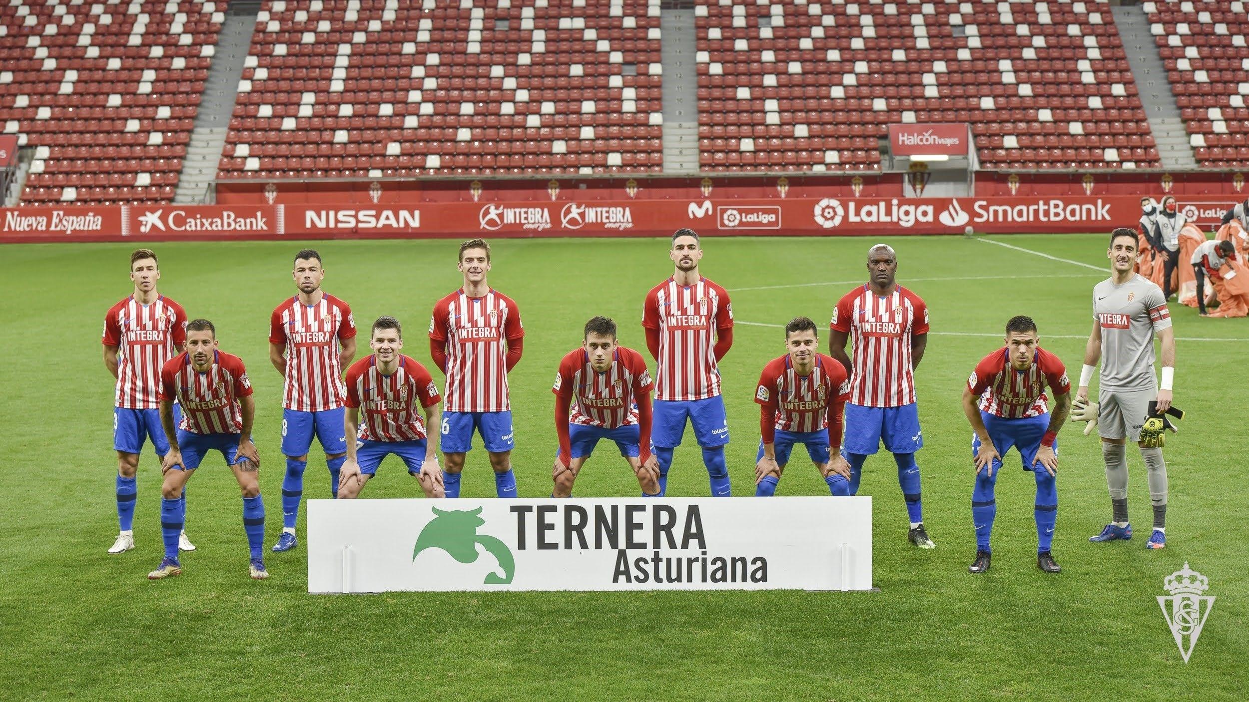 La plantilla de l'Sporting de Gijón, en arxiu | Europa Press