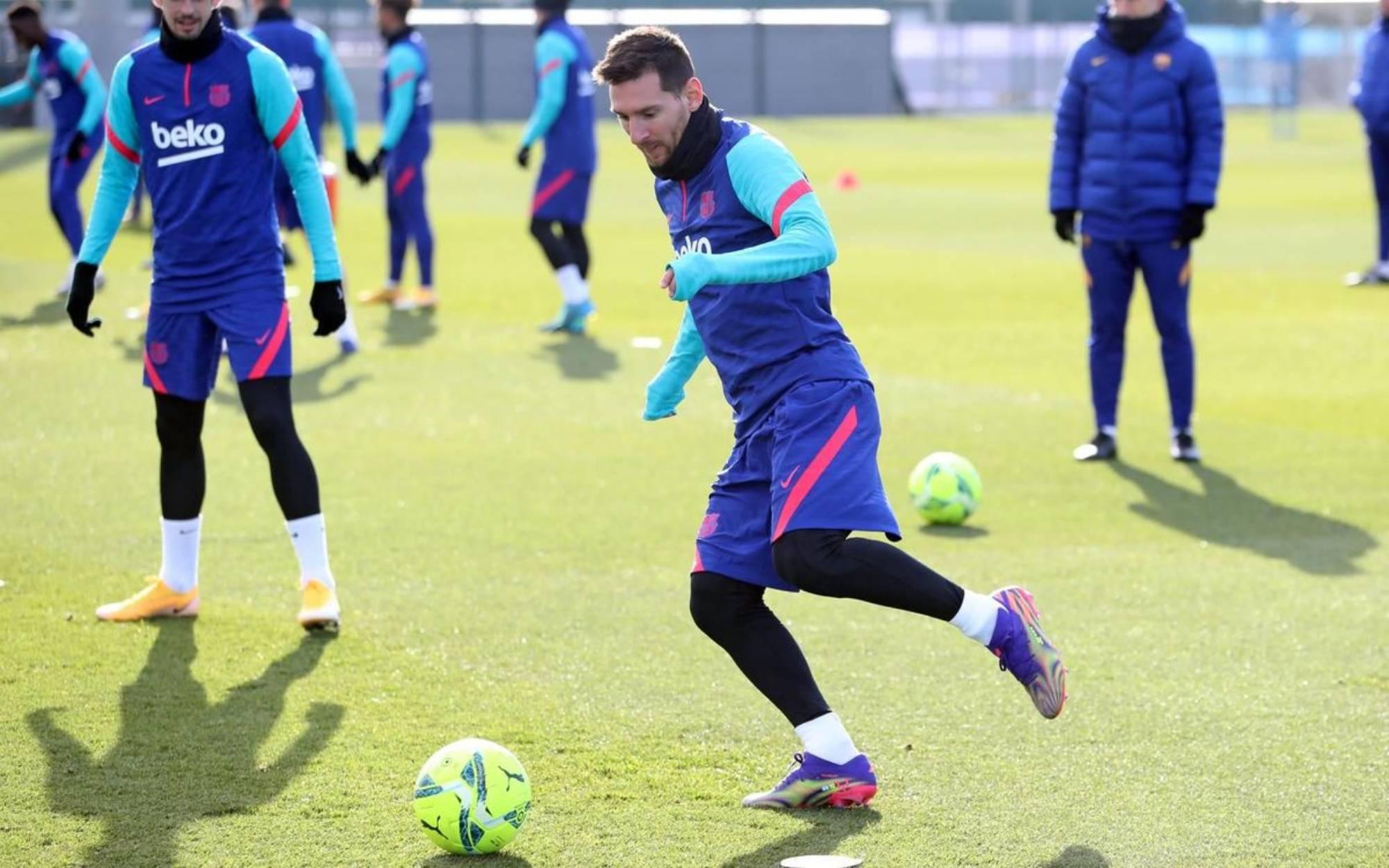 Leo Messi, durant un entrenament | FC Barcelona
