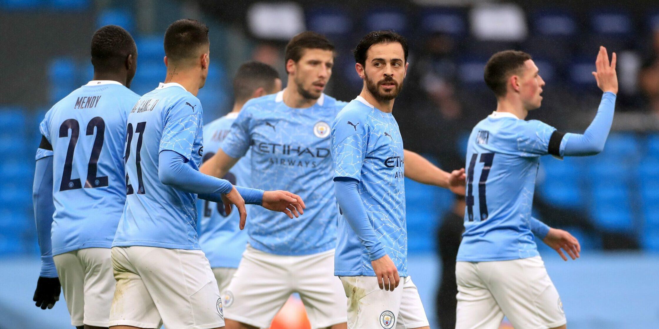 Els jugadors del City celebren el gol | Europa Press