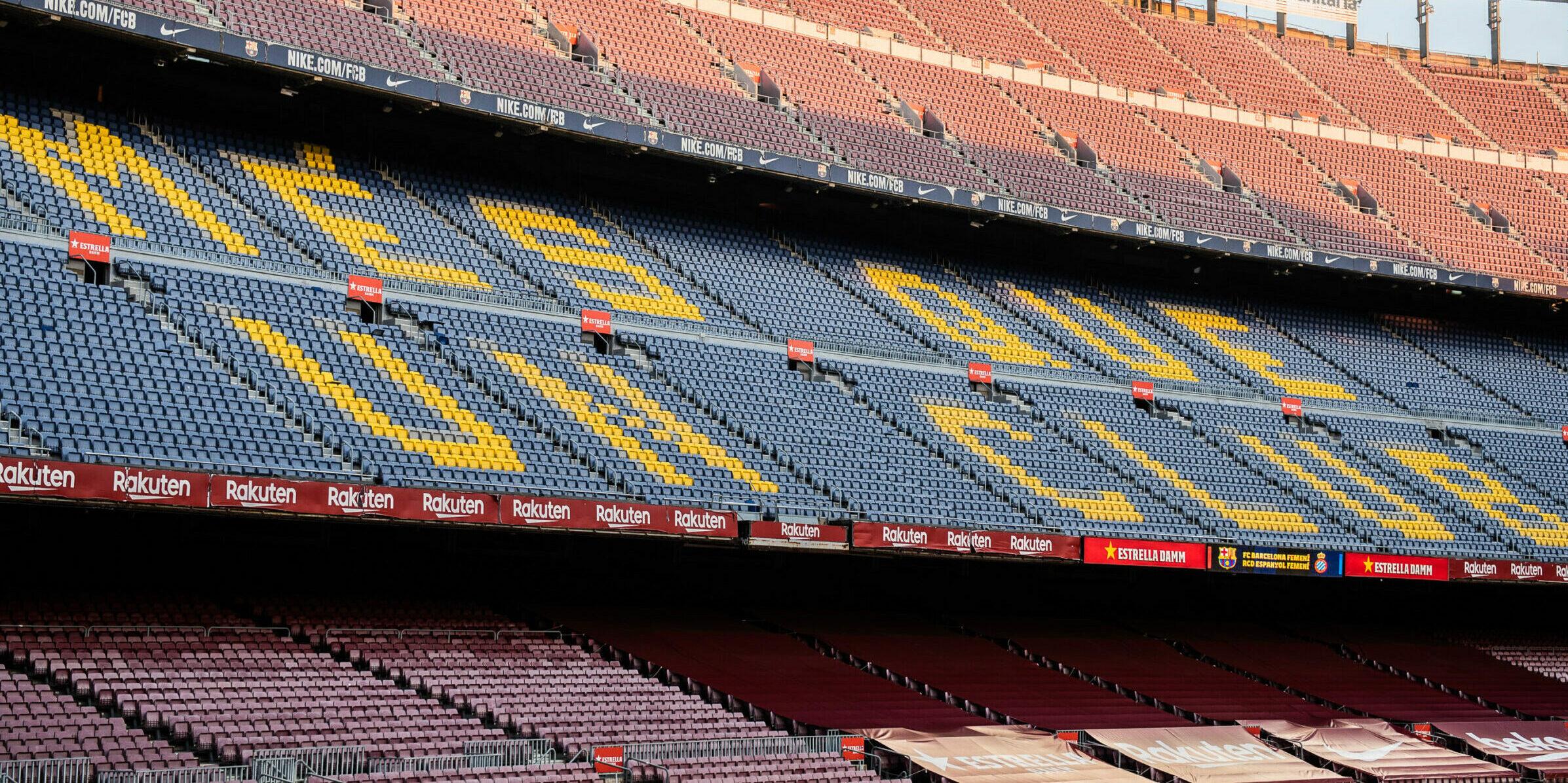 El Camp Nou, durant un partit a porta tancada |Europa Press