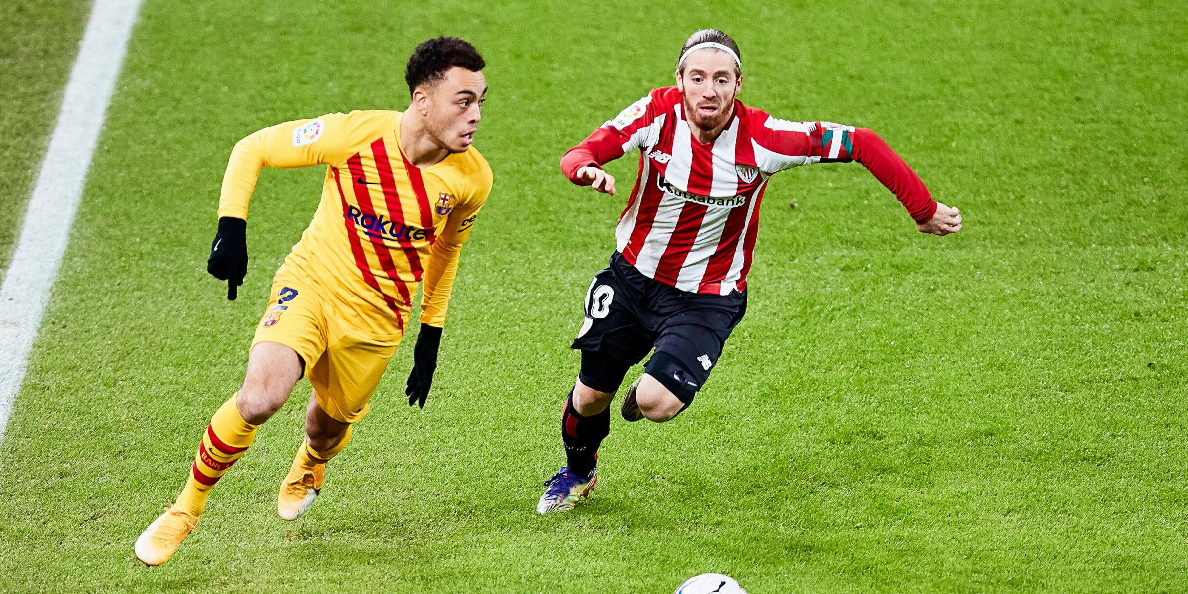 Sergiño Dest, durant un partit del Barça | Europa Press