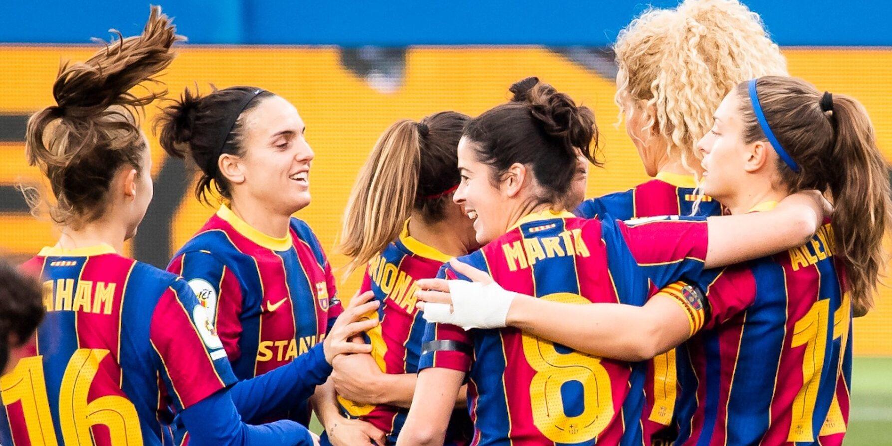 Les jugadores del Barça celebren un dels gols contra el Rayo Vallecano | FC Barcelona