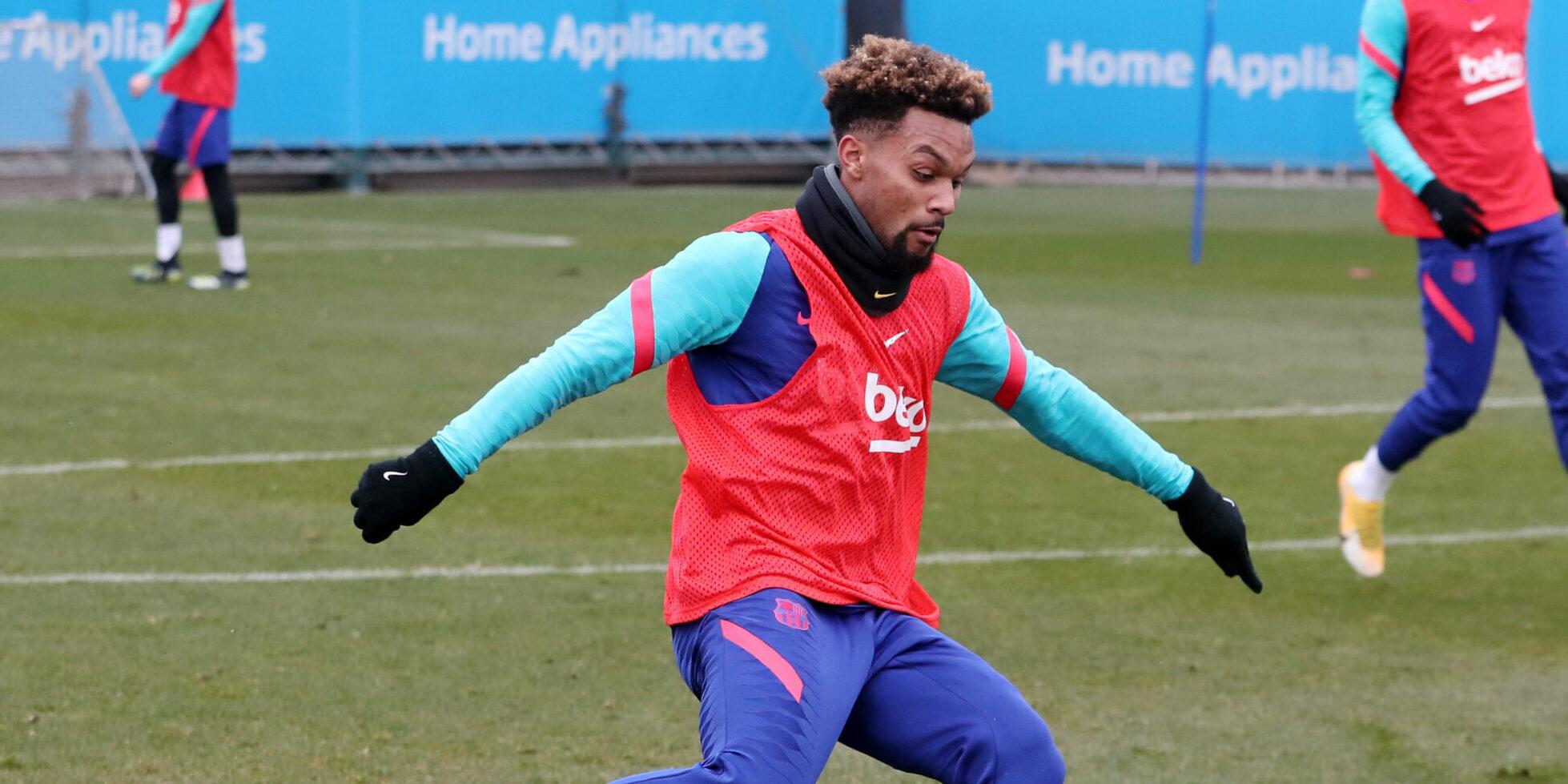Konrad de la Fuente, durant un entrenament | FC Barcelona
