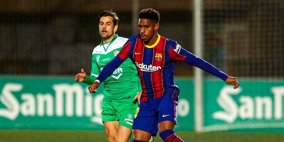 Junior Firpo, durant el partit contra el Cornellà | FC Barcelona