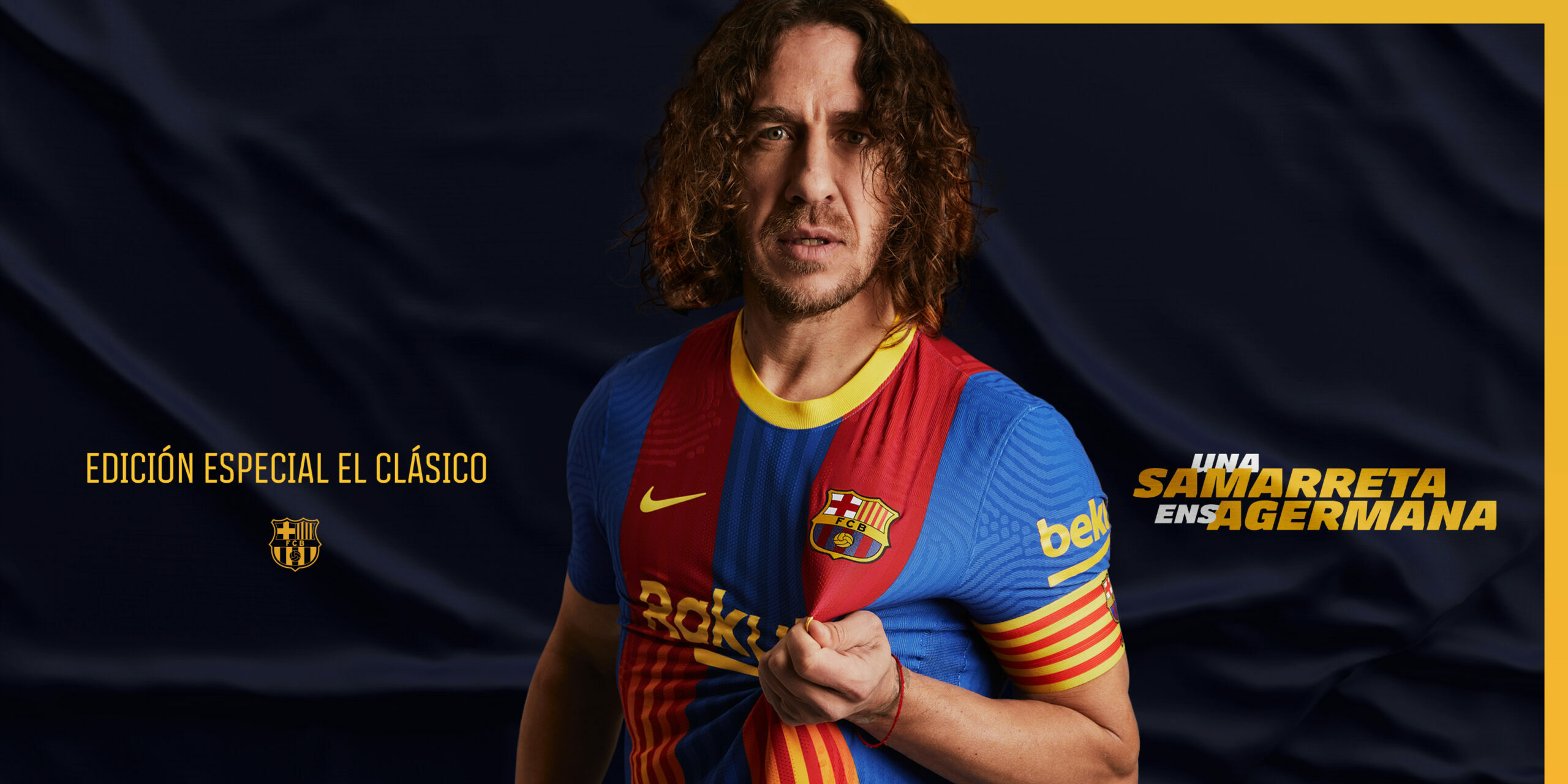 Carles Puyol presenta la nova samarreta del Barça |FC Barcelona
