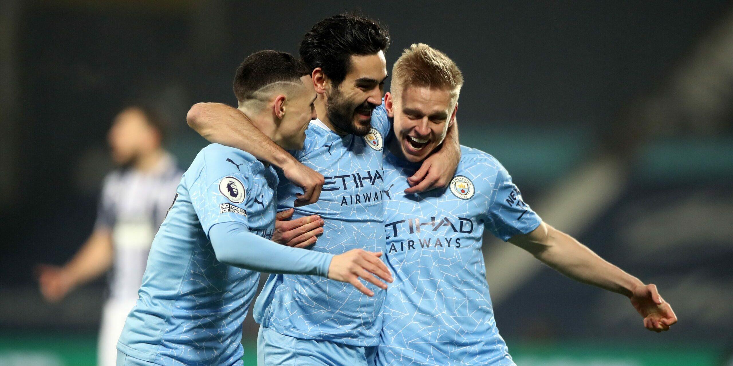 Els jugadors del Manchester City celebren un gol | Europa Press