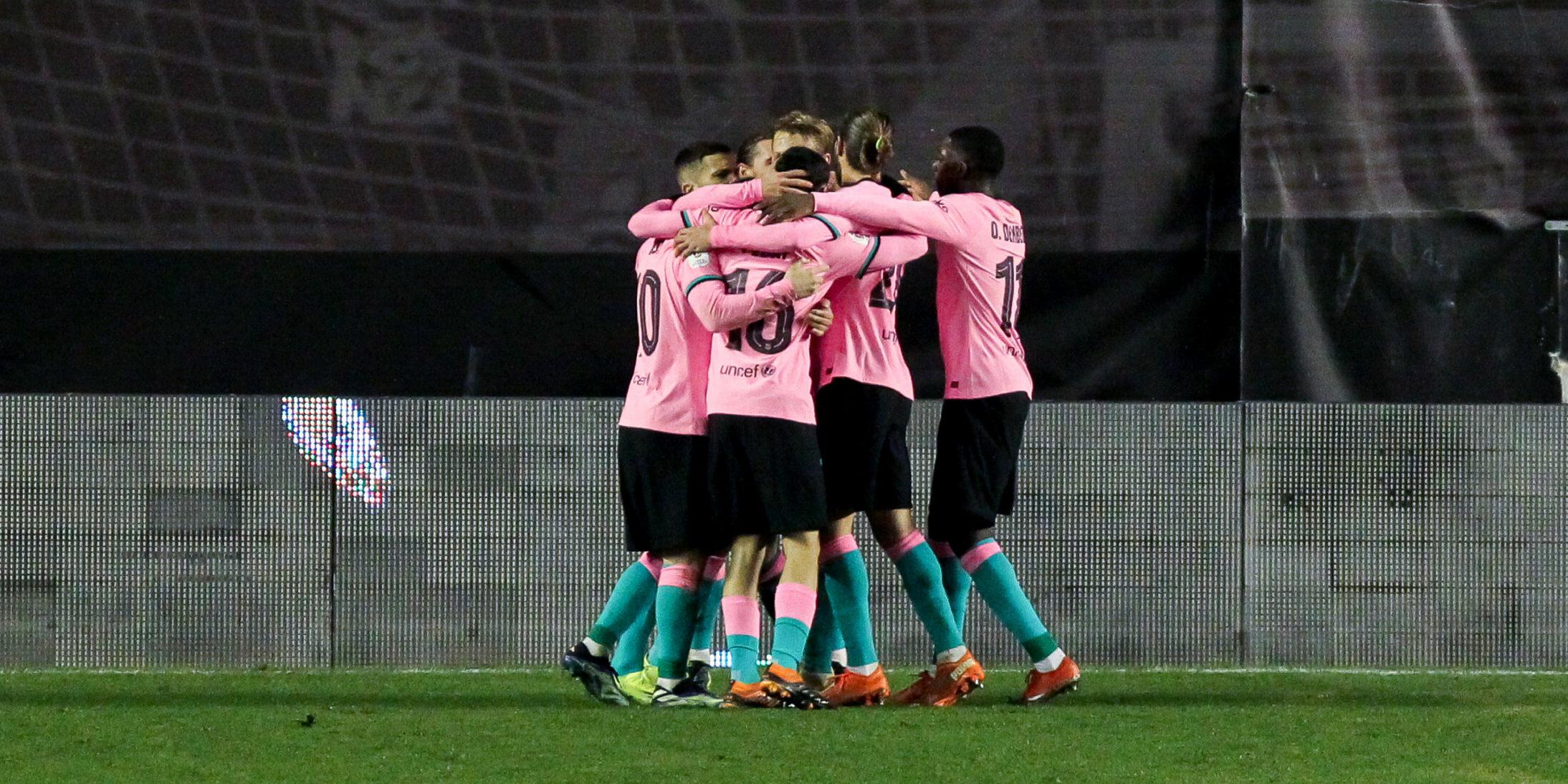 Els jugadors del Barça celebren un gol a la Copa del Rei | Europa Press