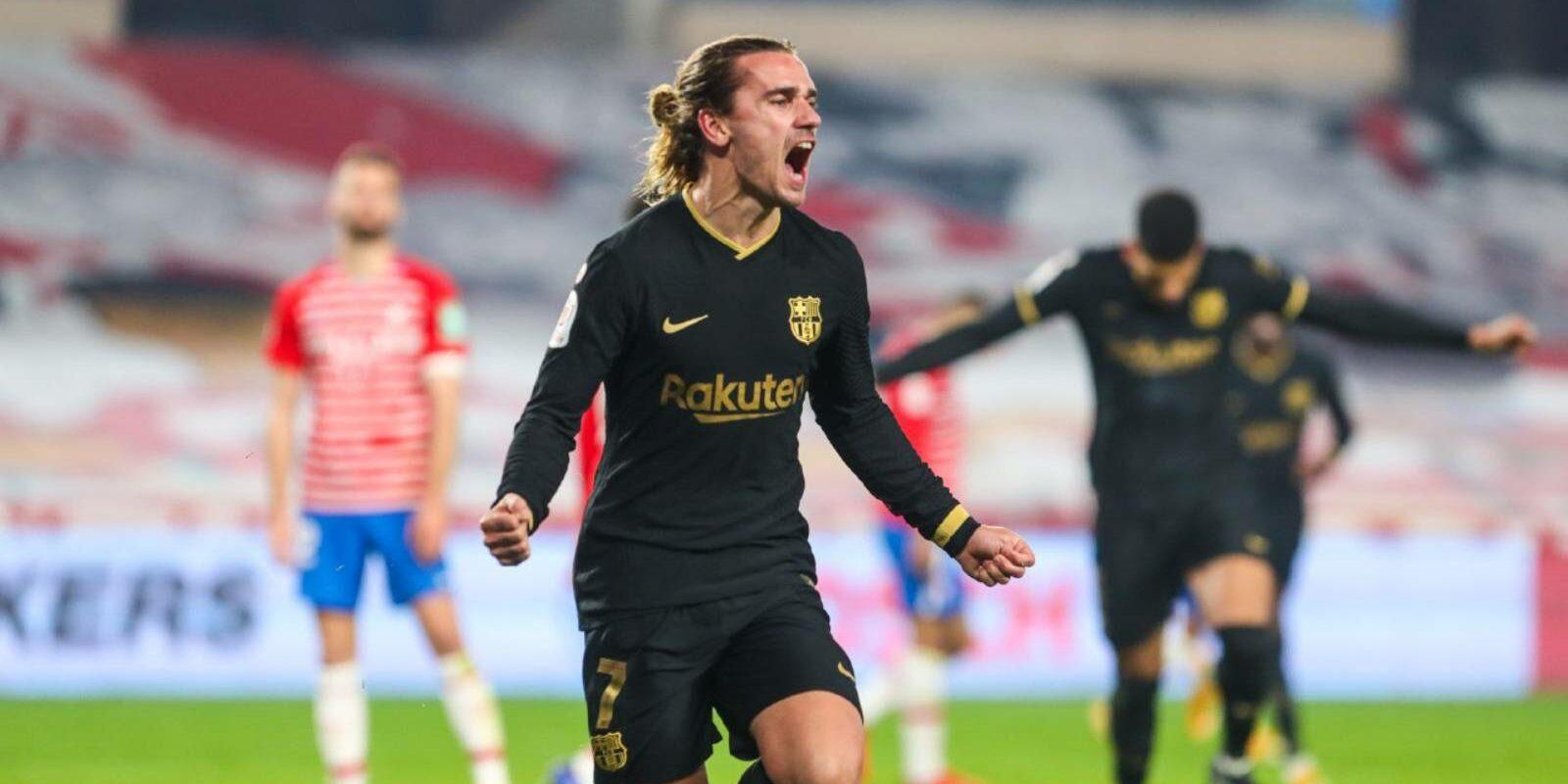 Griezmann celebra un gol al Nuevo los Cármenes   Europa Press