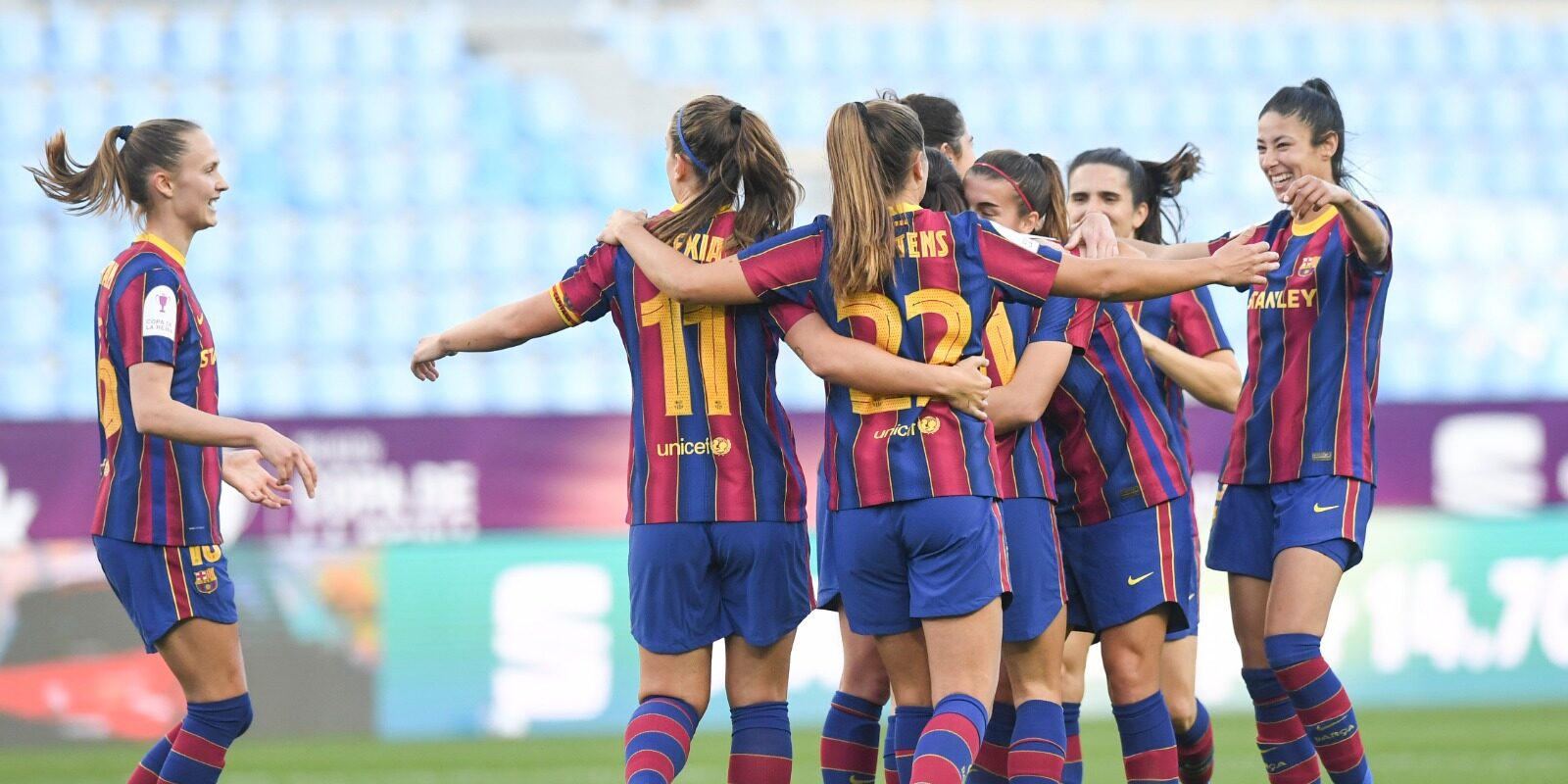 Les jugadores del Barça celebren gol | Twitter FC Barcelona Femení
