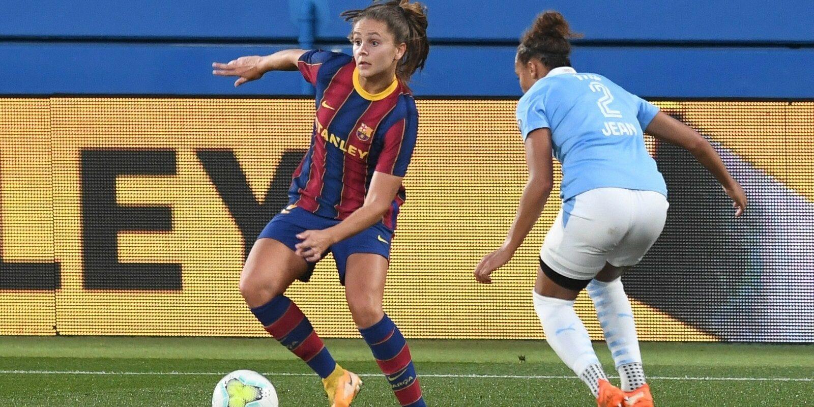 Lieke Martens, durant un partit de Champions | Europa Press