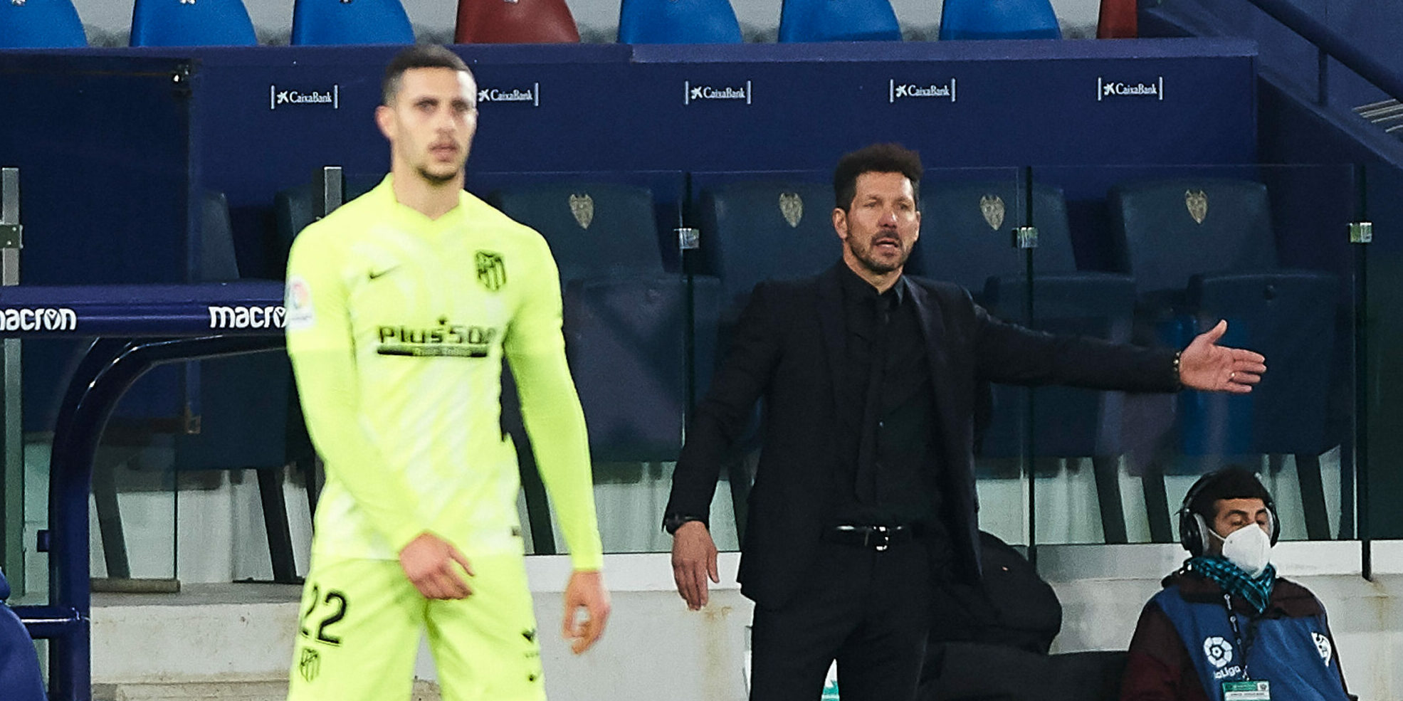 Simeone i Hermoso, durant un partit | Europa Press