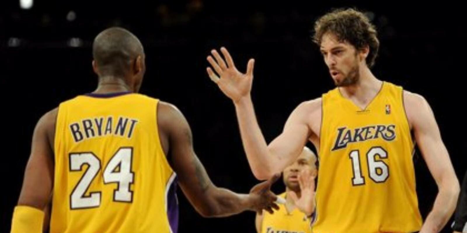 Pau Gasol, amb Kobe Bryant | Euopa Press