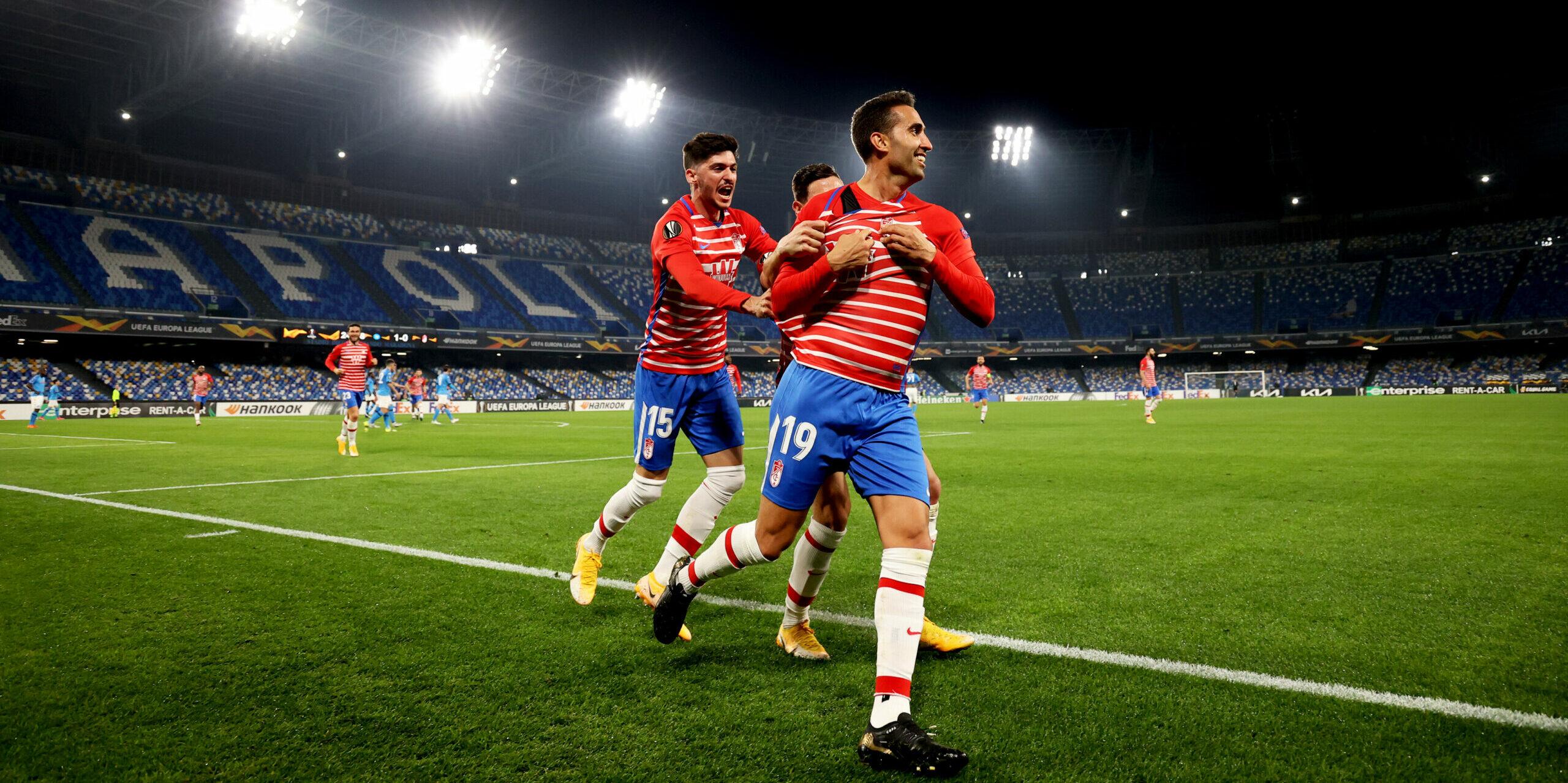 Montoro celebra un gol al Diego Armando Maradona | Europa Press