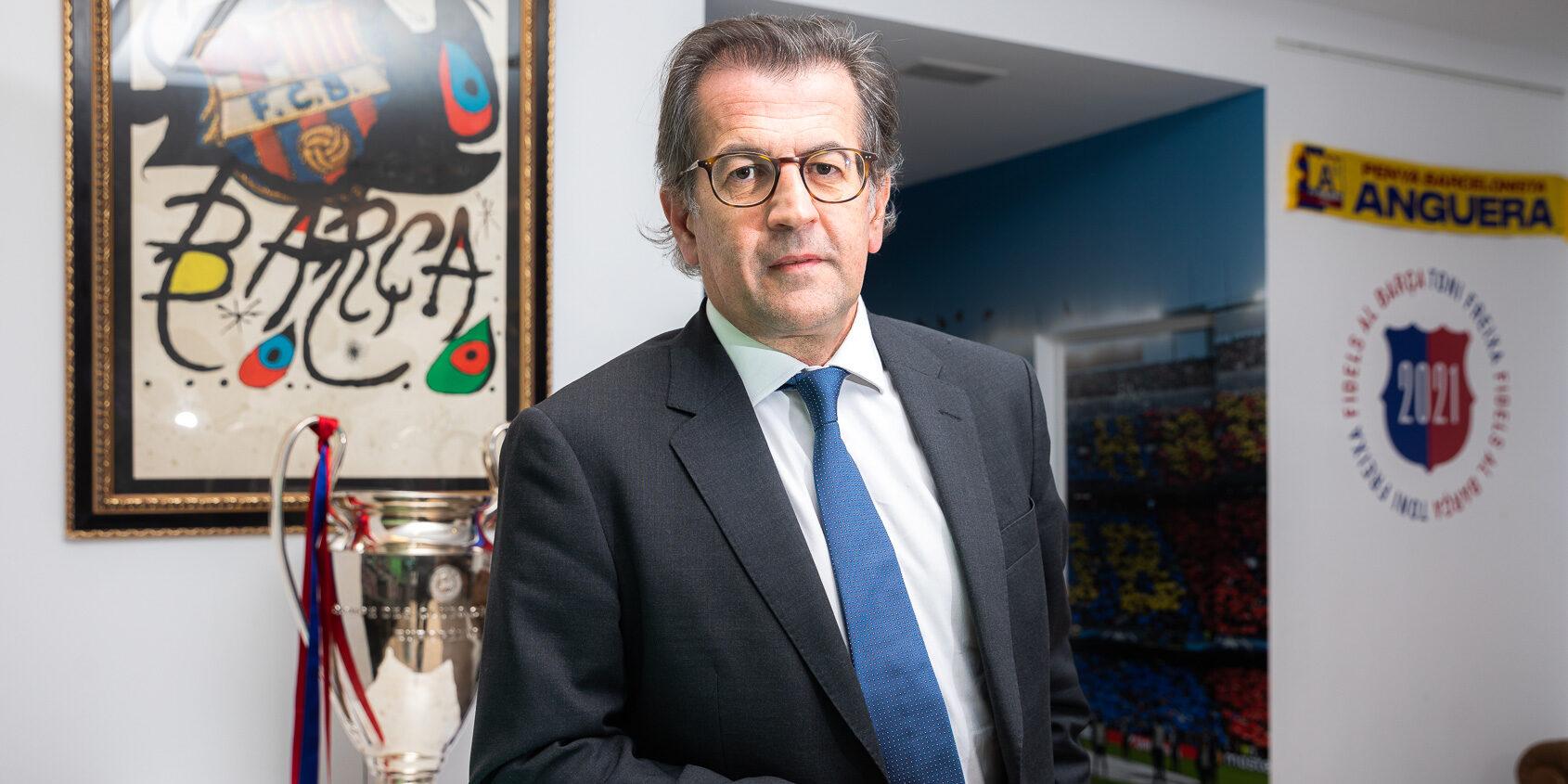 Toni Freixa, durant una entrevista amb El Món | Jordi Borràs