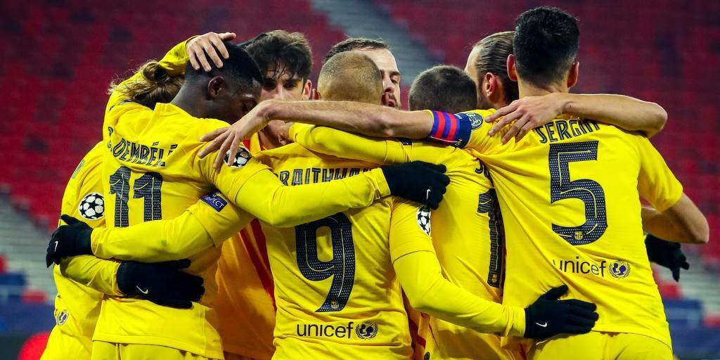 Els jugadors del Barça celebren un gol | FC Barcelona