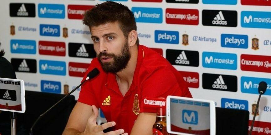Gerard Piqué, en una roda de premsa de la selecció espanyola | Europa Press