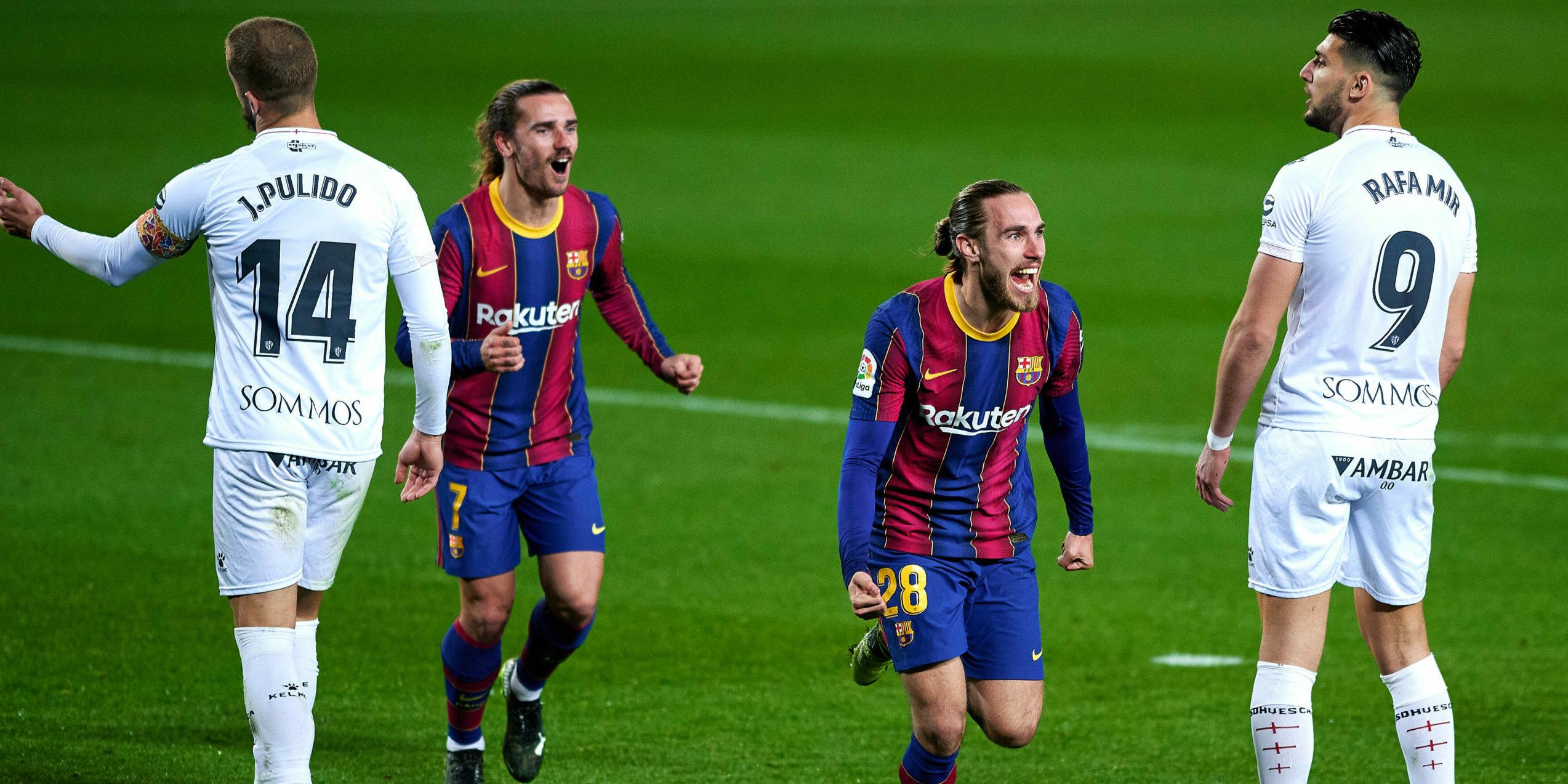 Mingueza, celebra el gol | Europa Press