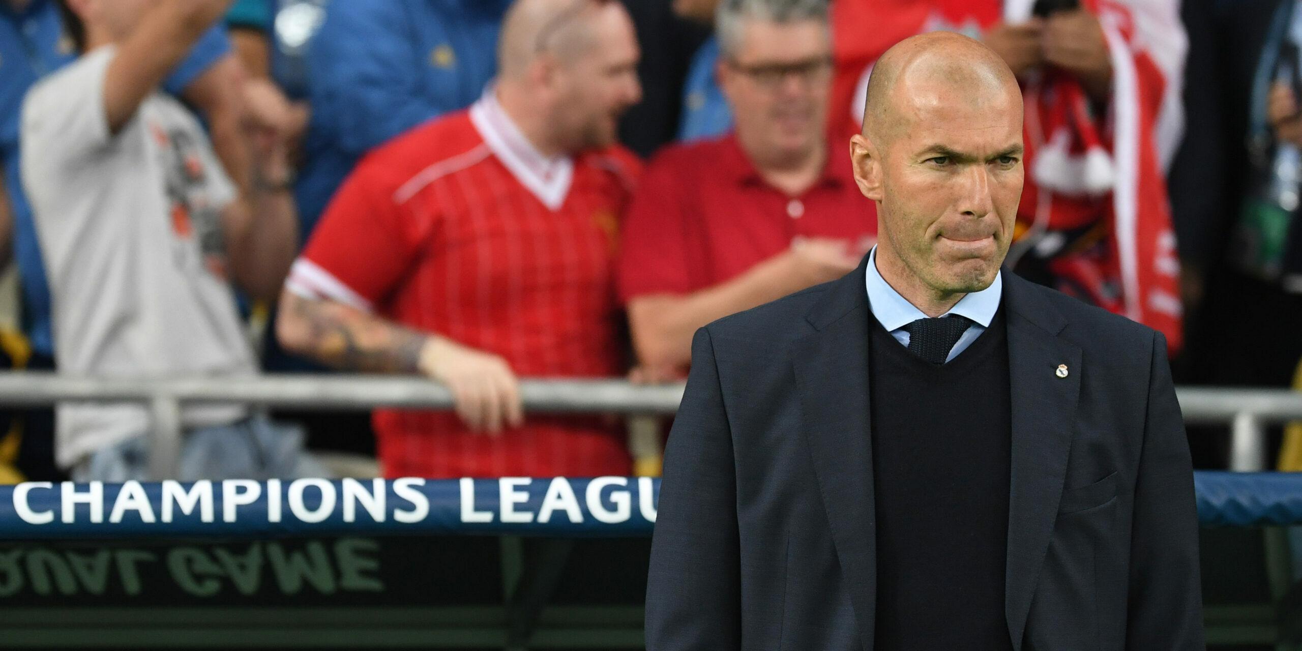 Zidane, durant la final de la Champions del 2018 contra el Liverpool | Europa Press
