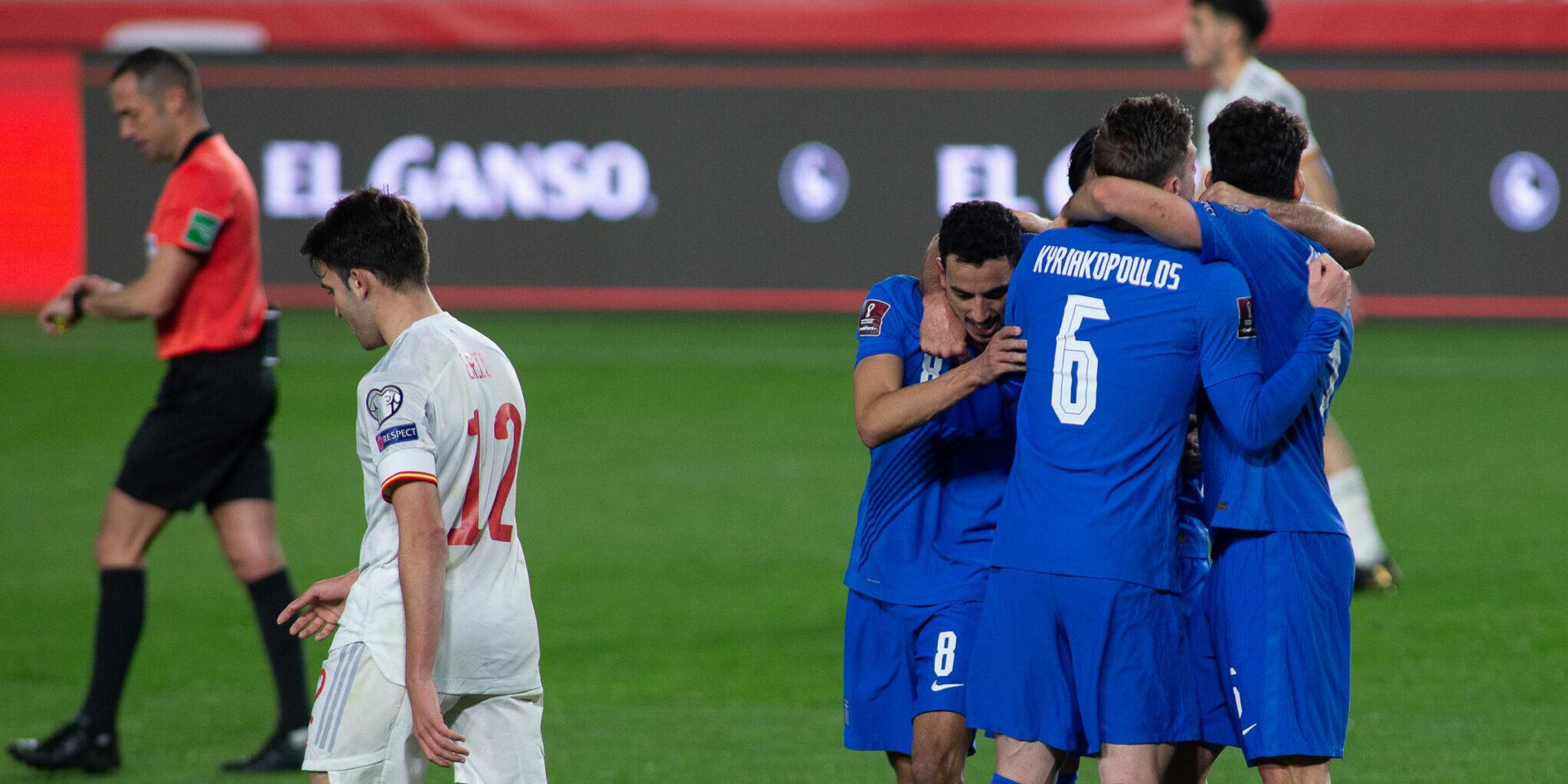 Grècia celebra el gol contra la selecció espanyola   Europa Press
