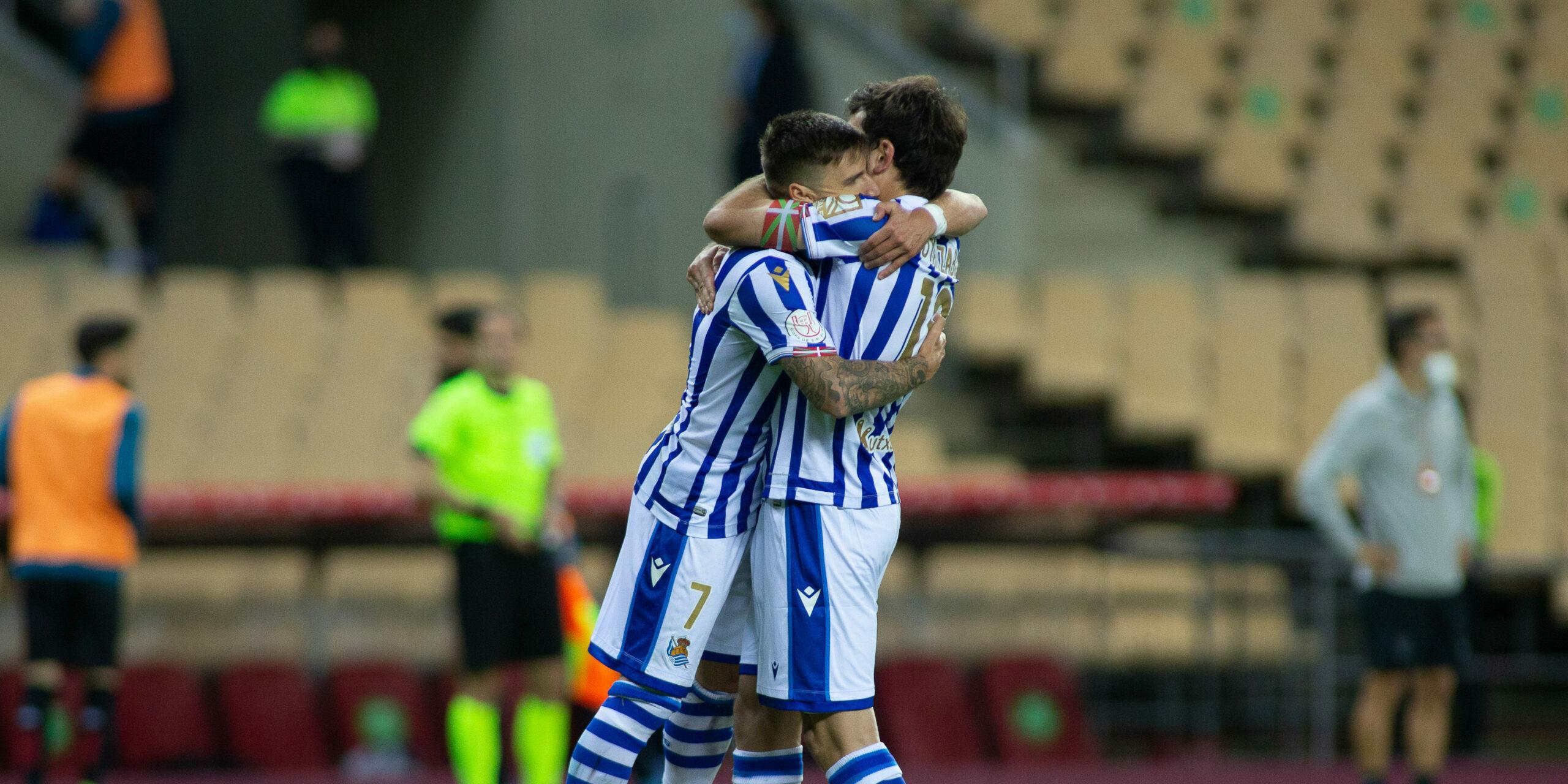 Jugadors de la Reial celebrant el gol | Europa Press