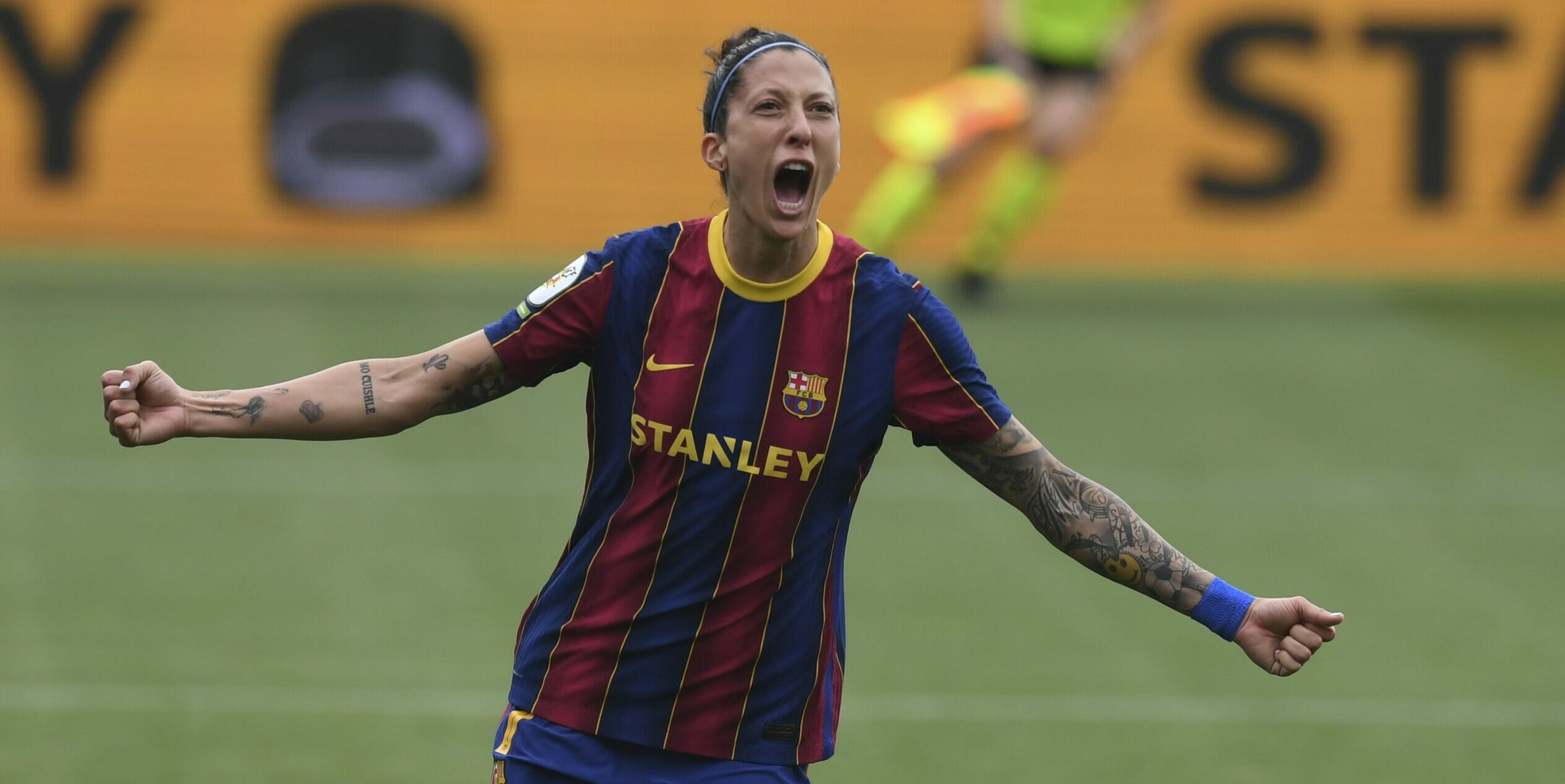 Hermoso, celebrant el seu gol | FCB