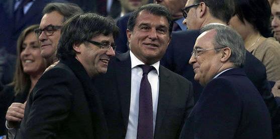 Laporta, Puigdemont i Florentino Pérez, en arxiu | EFE