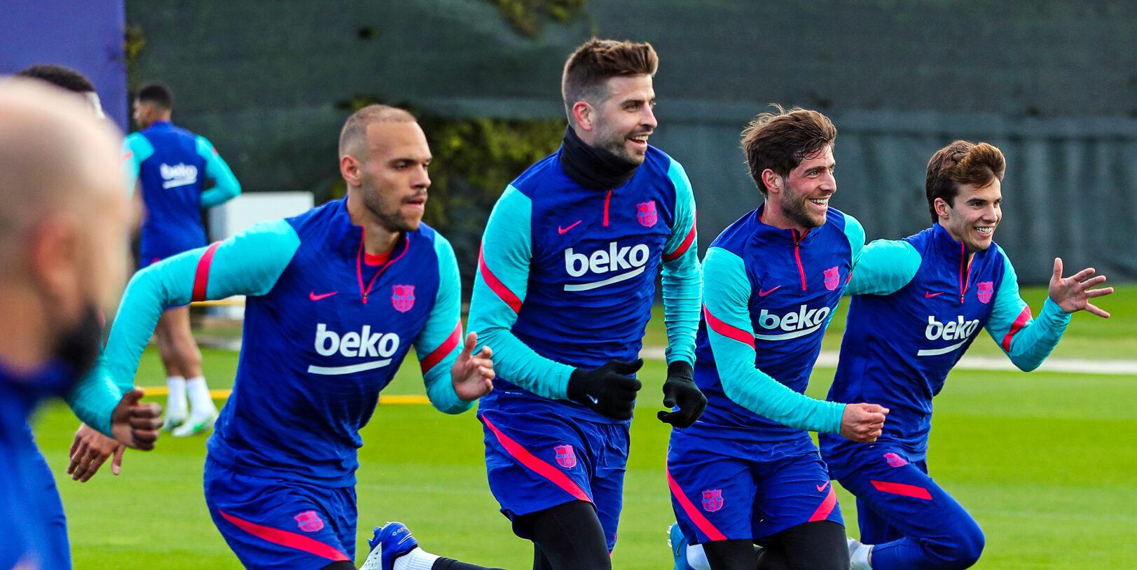 Els jugadors del Barça, durant un entrenament | FC Barcelona