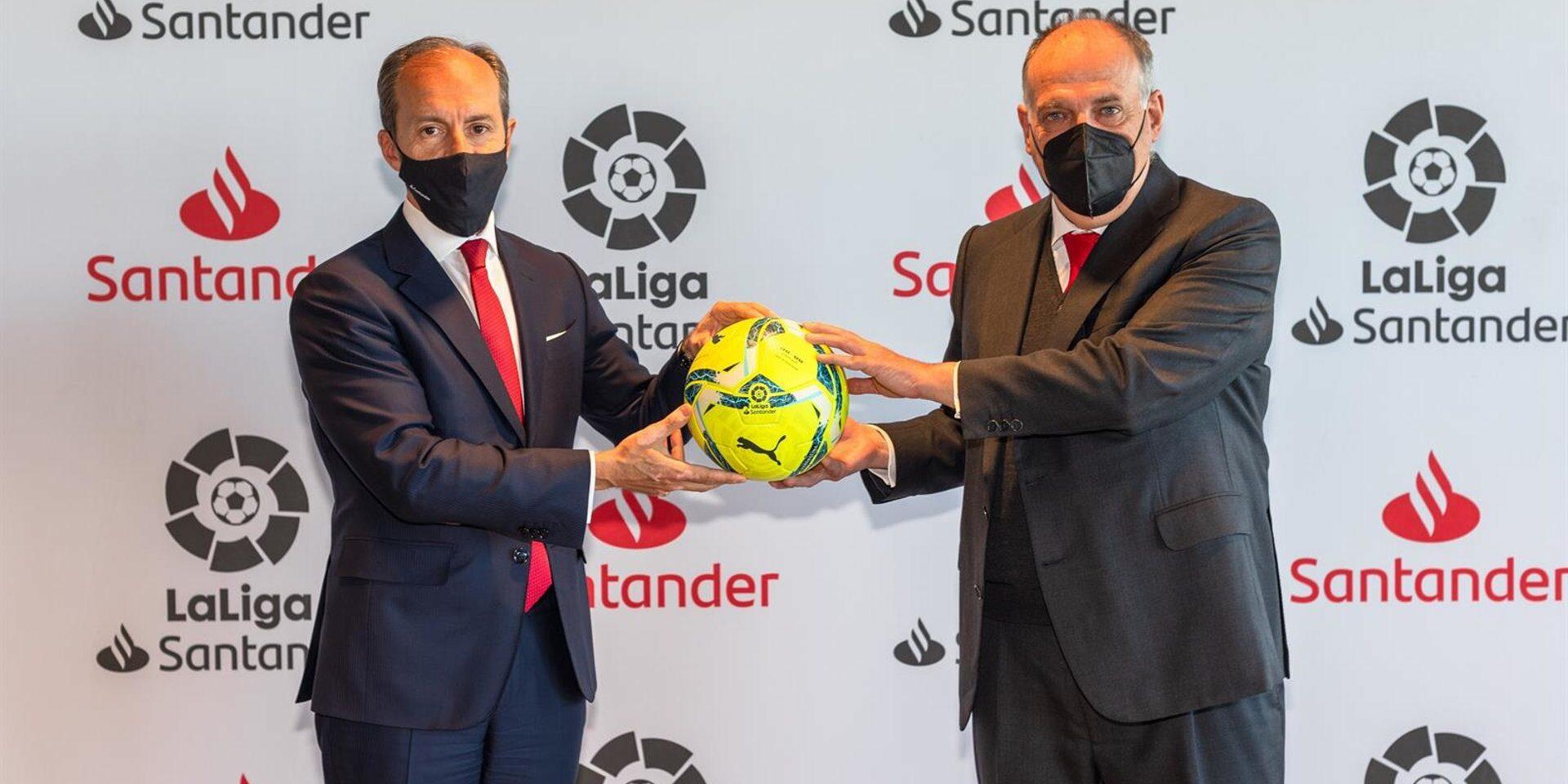 Una imatge promocional entre el banc Santander i LaLiga | LaLiga