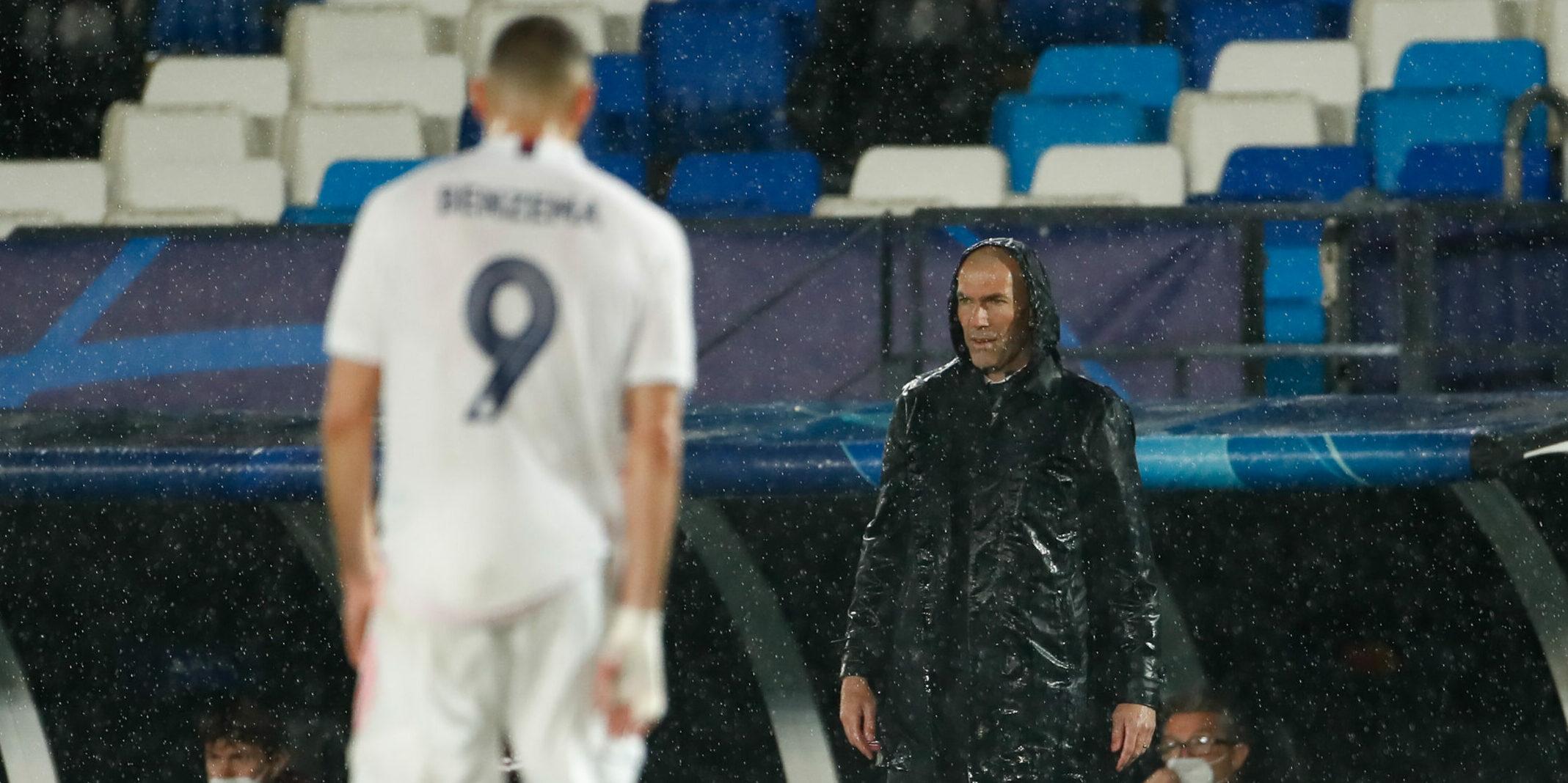 Benzema i Zidane, a Valdebebas | Europa Press