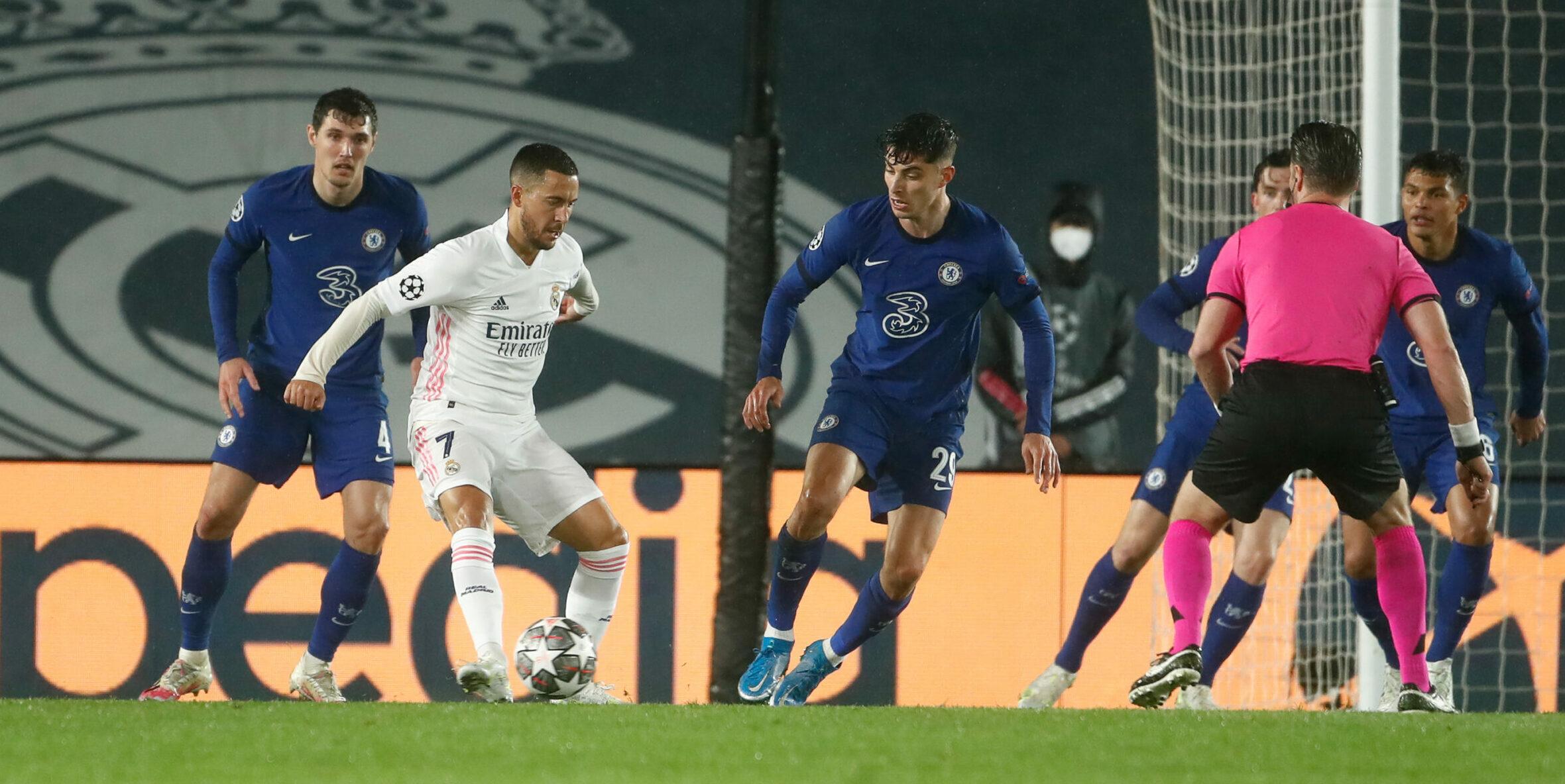 Imatge del partit entre Madrid i Chelsea | Europa Press