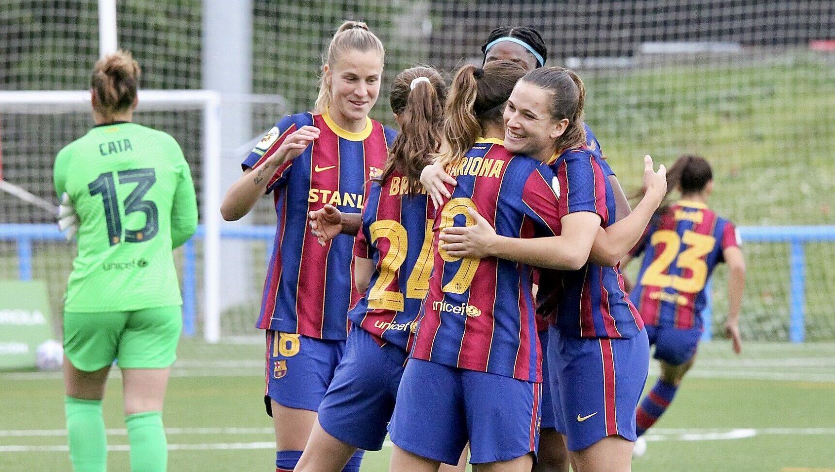 Les jugadores del Barça celebren un dels gols | FC Barcelona