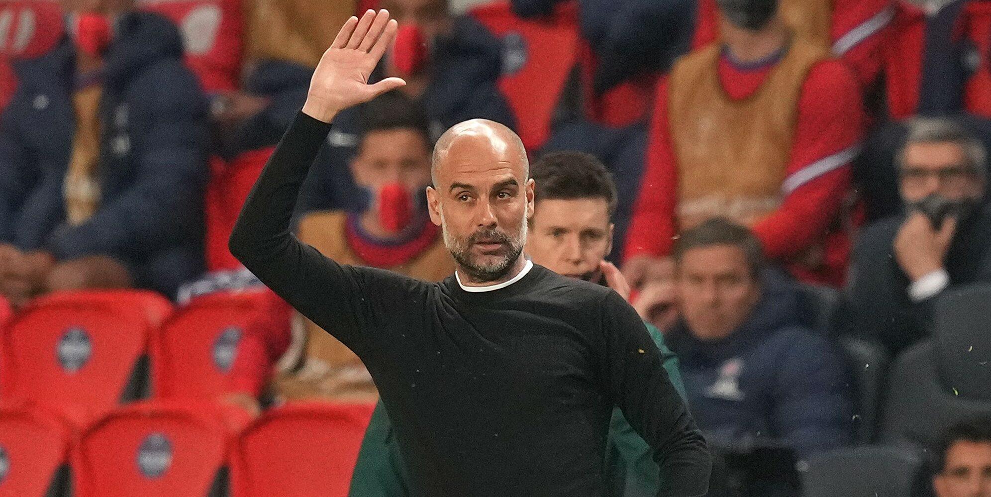 Guardiola, durant el partit contra el PSG | Europa Press