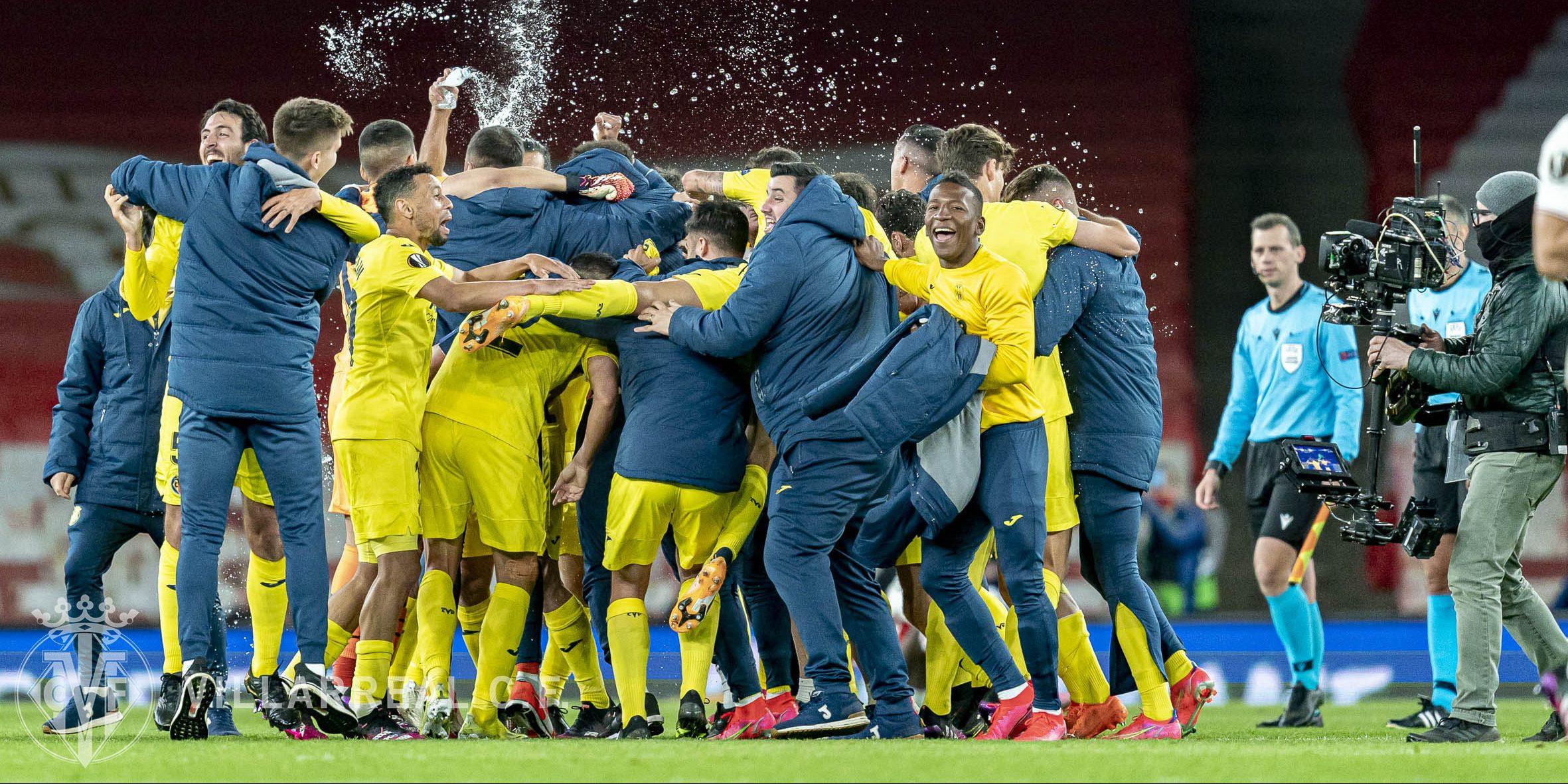 Els jugadors del Vila-real celebren la classificació per a la final de l'Europa League | Vila-real CF