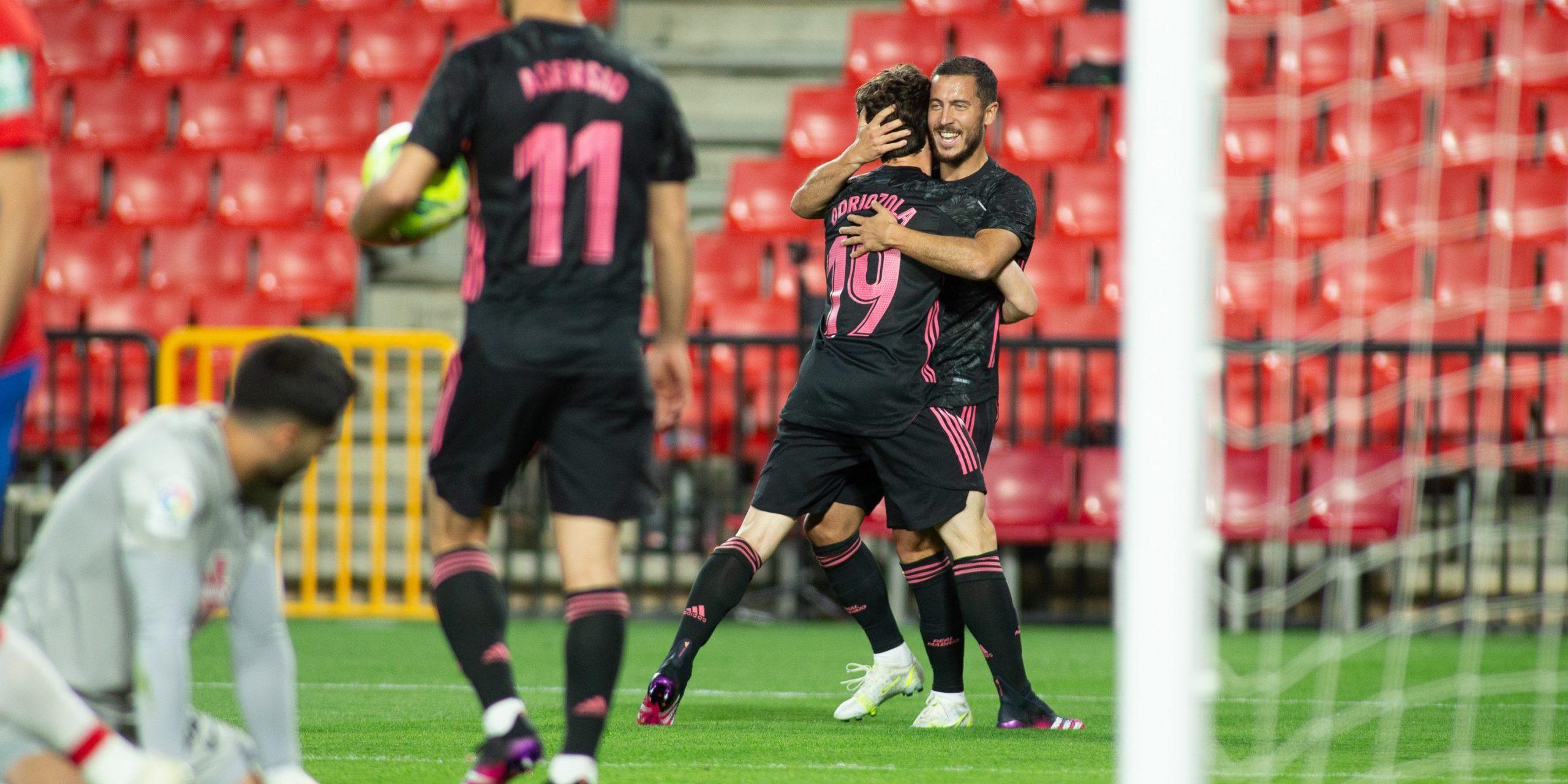 Els jugadors del Madrid celebren un gol | Europa Press