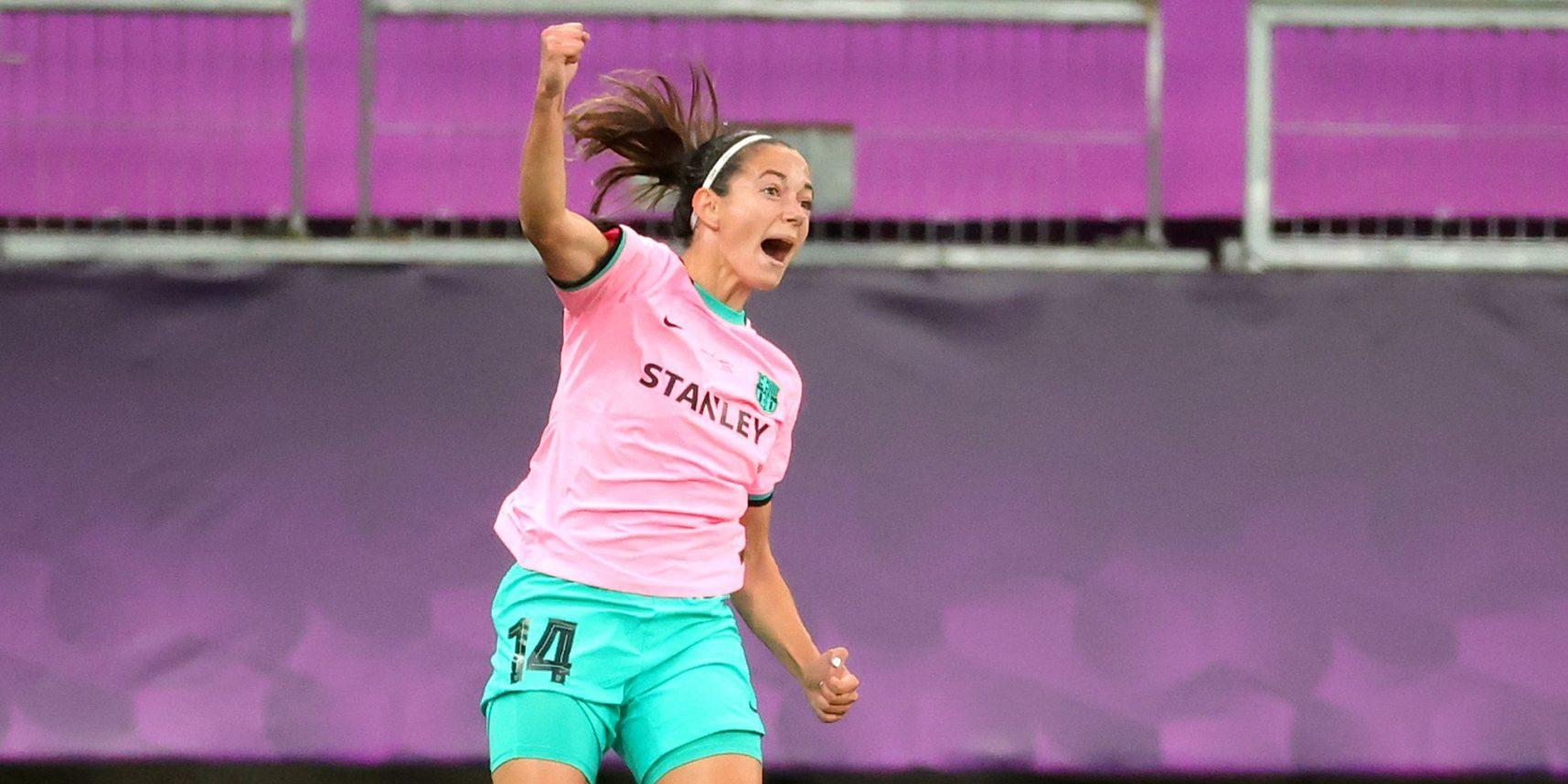 Aitana Bonmatí celebra el seu gol a la final de la Champions | Europa Press