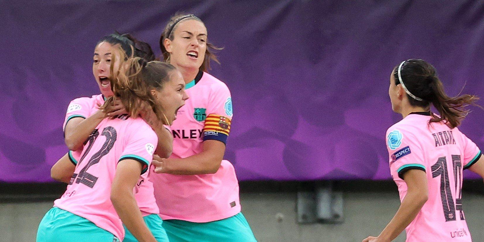Alèxia celebra el seu gol a la final de la Champions | Europa Press