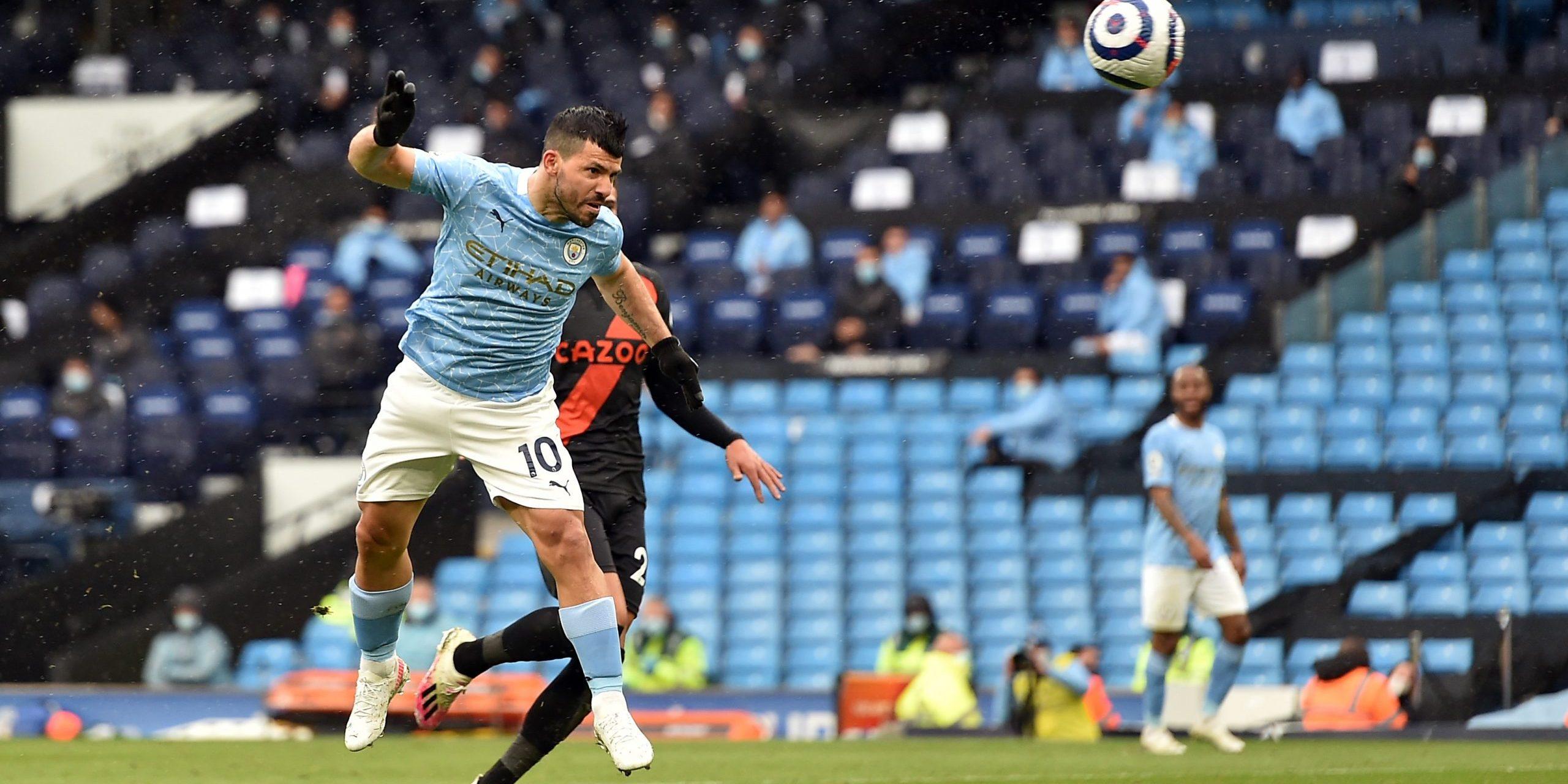 Agüero, durant el seu darrer partit amb el City | Europa Press
