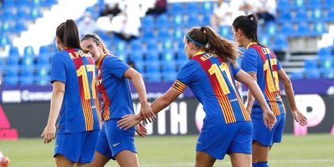 Les jugadores del Barça celebren un gol | FC Barcelona