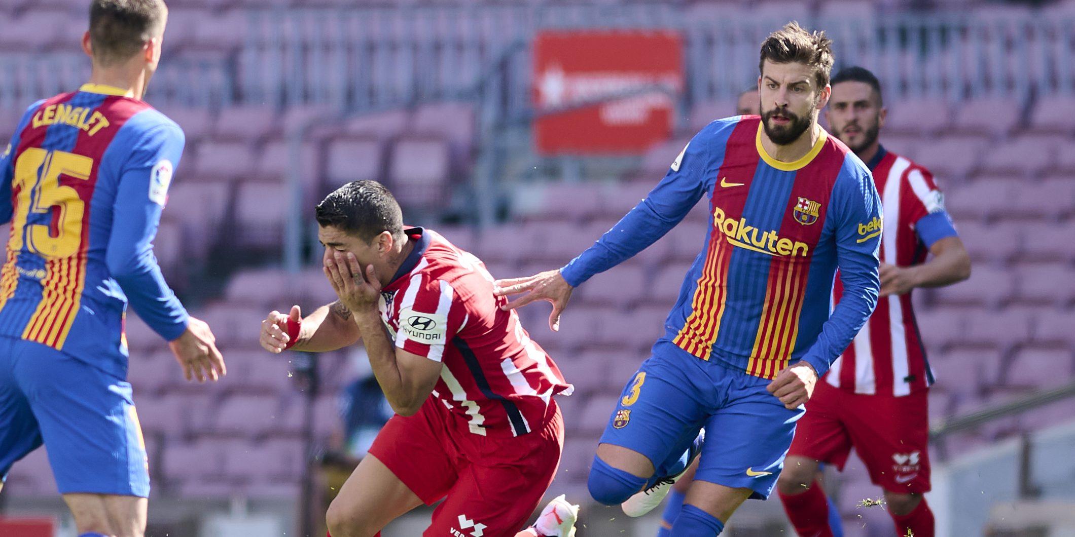 Gerard Piqué en el duel contra l'Atlètic de Madrid | Europa Press
