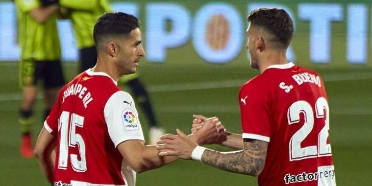 Juanpe i Santi Bueno, jugadors del Girona | Europa Press