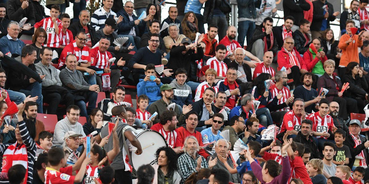 Les graderies de Montilivi abans de la pandèmia | Girona FC